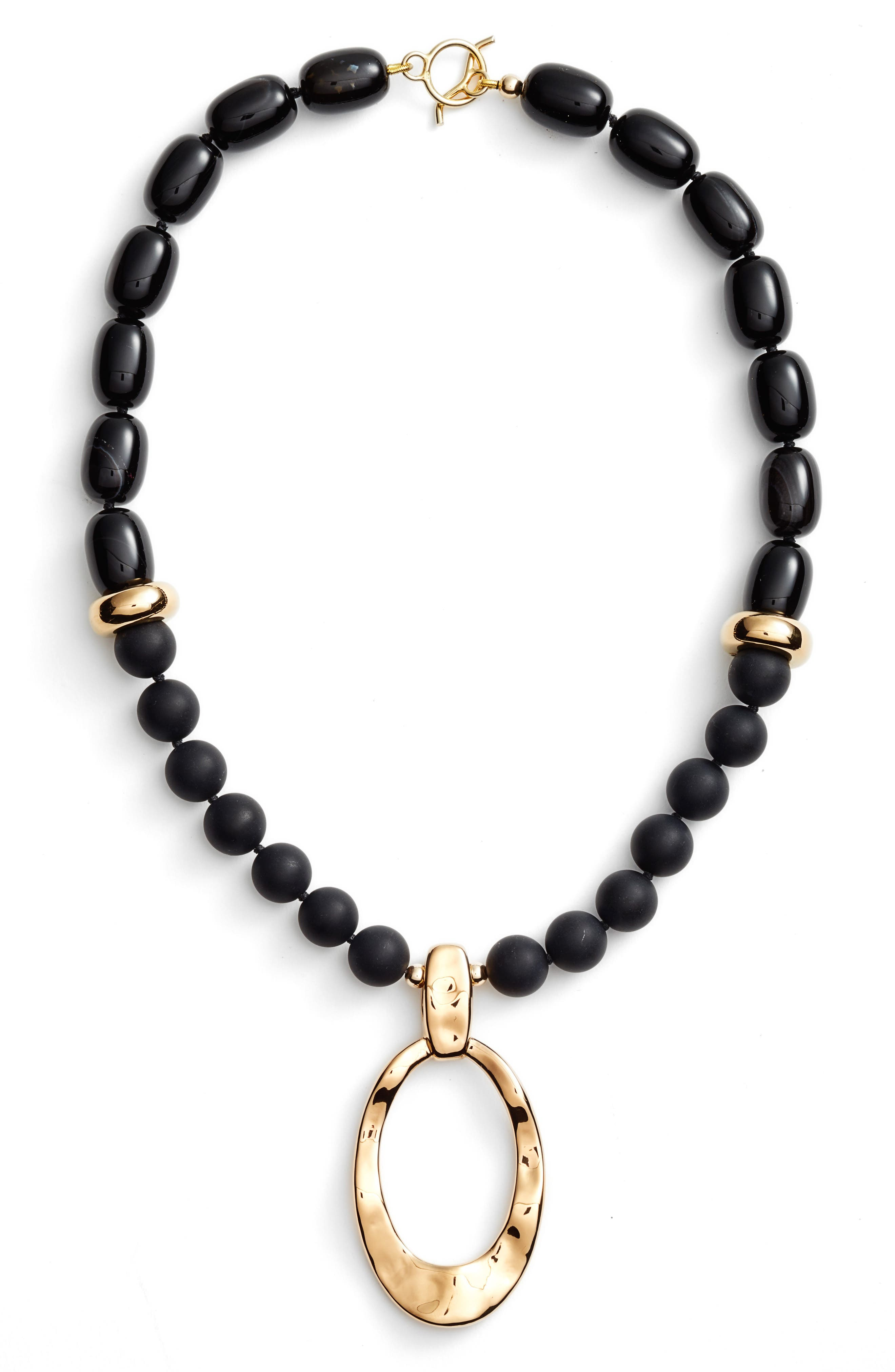 Simon Sebbag Onyx Pendant Necklace