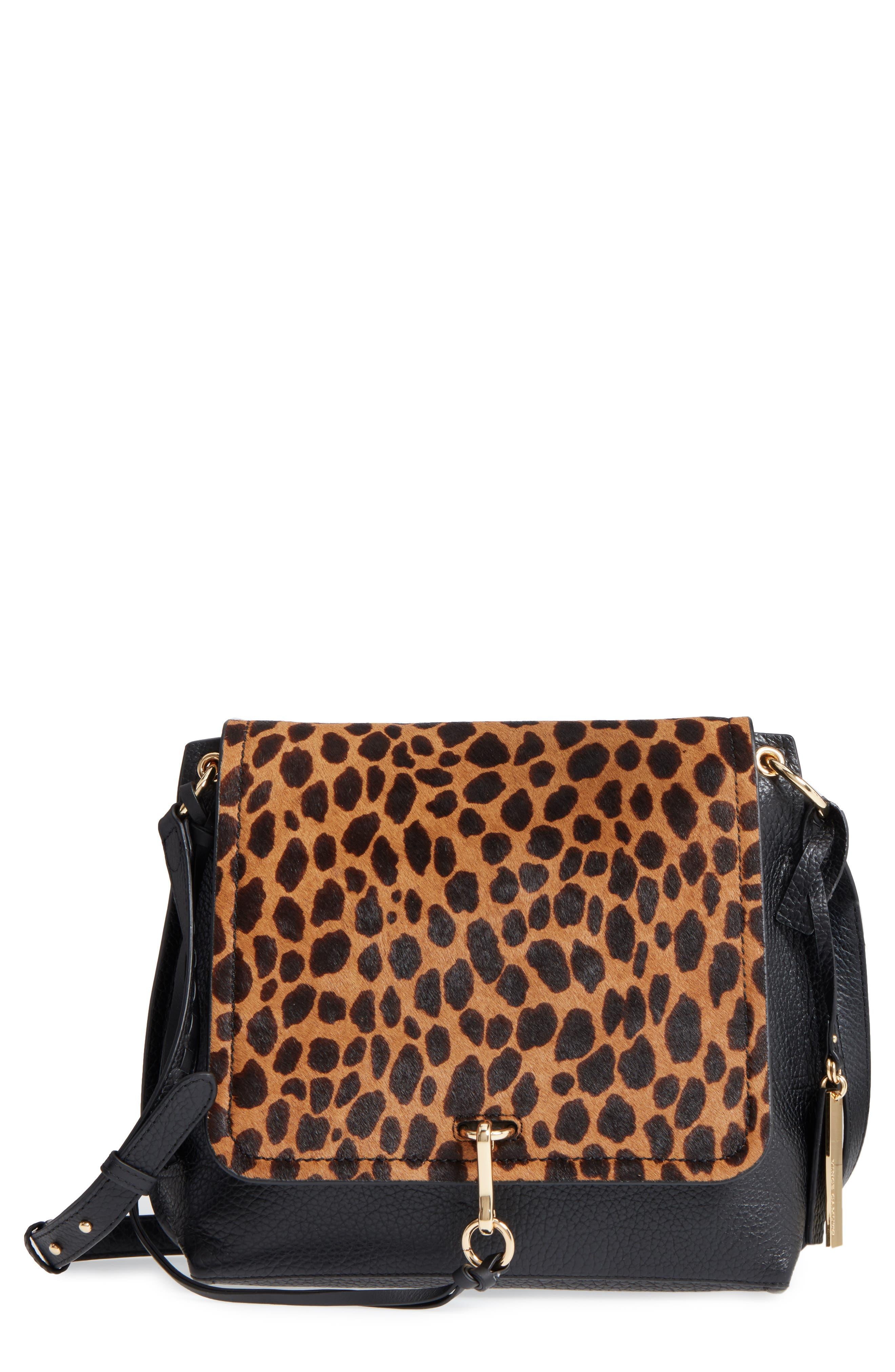 Vince Camuto Blena Leather & Genuine Calf Hair Crossbody Bag