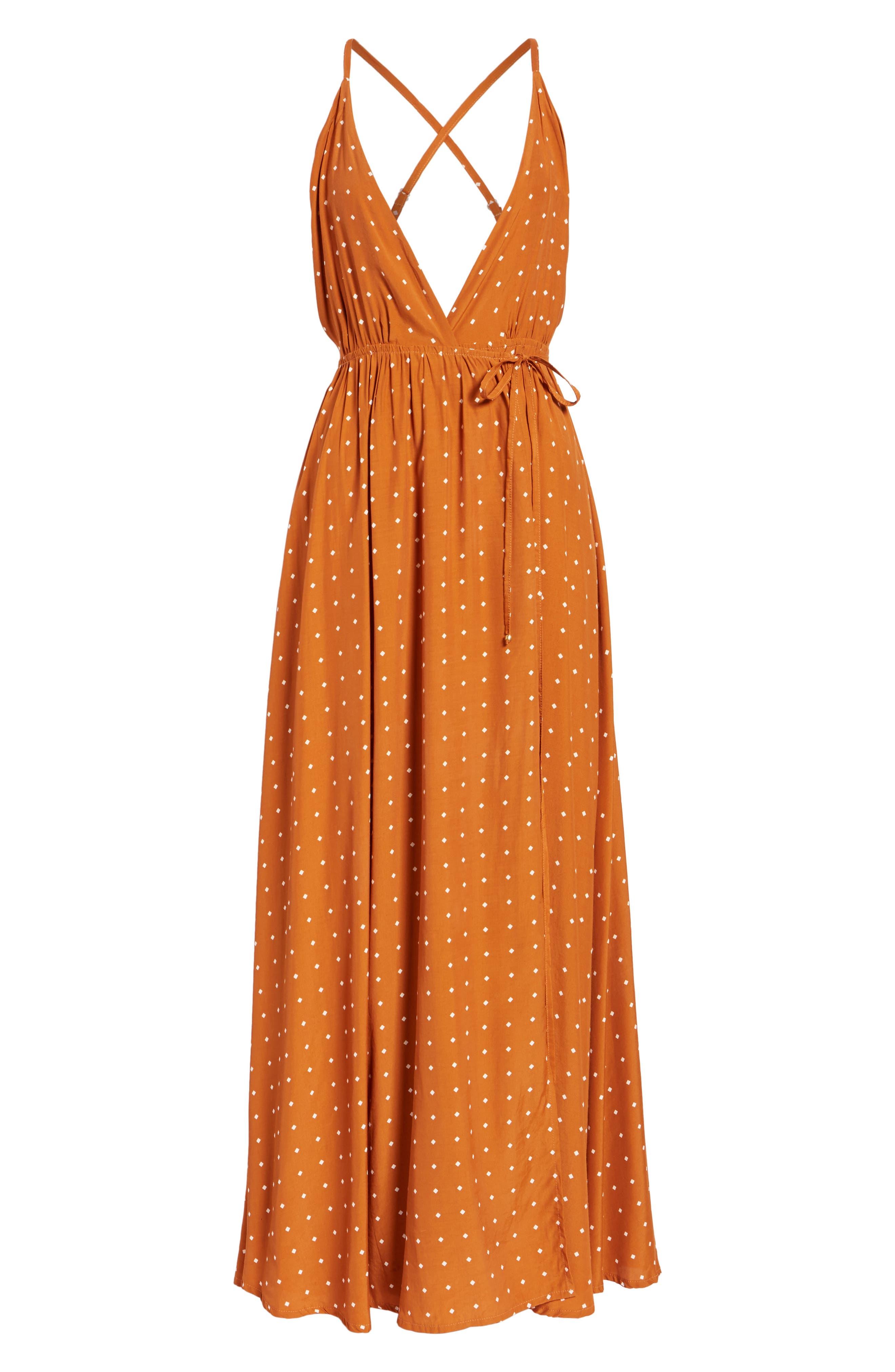Santa Rosa Maxi Dress,                             Alternate thumbnail 6, color,                             Stefano Print - Ginger