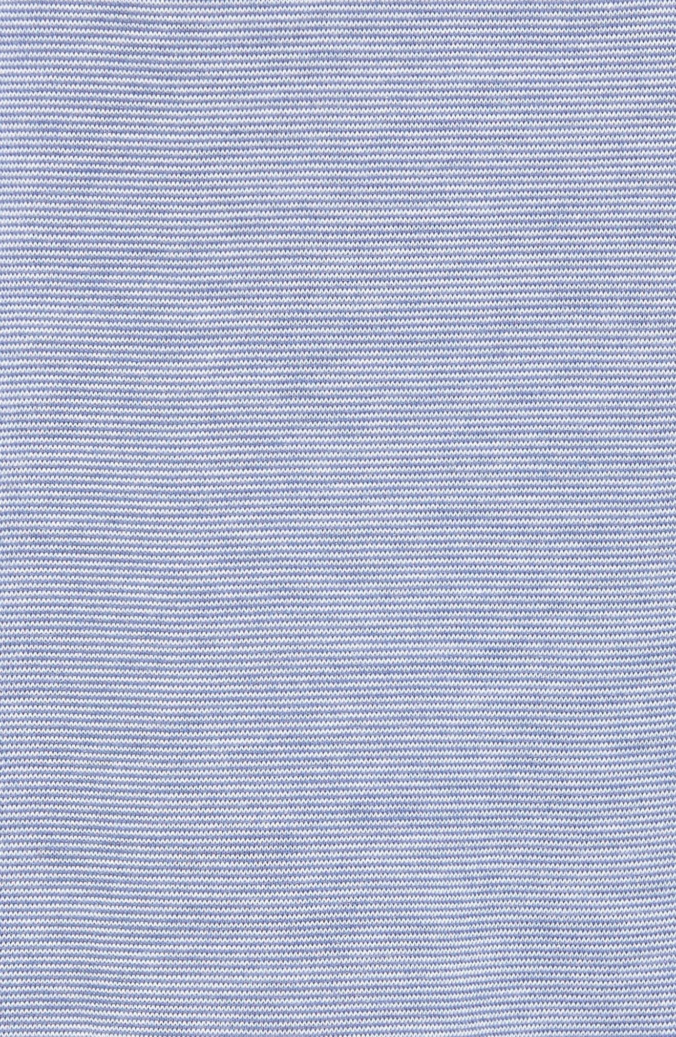 Pima Cotton & Modal Lounge Shorts,                             Alternate thumbnail 5, color,                             Blue/ Ivory