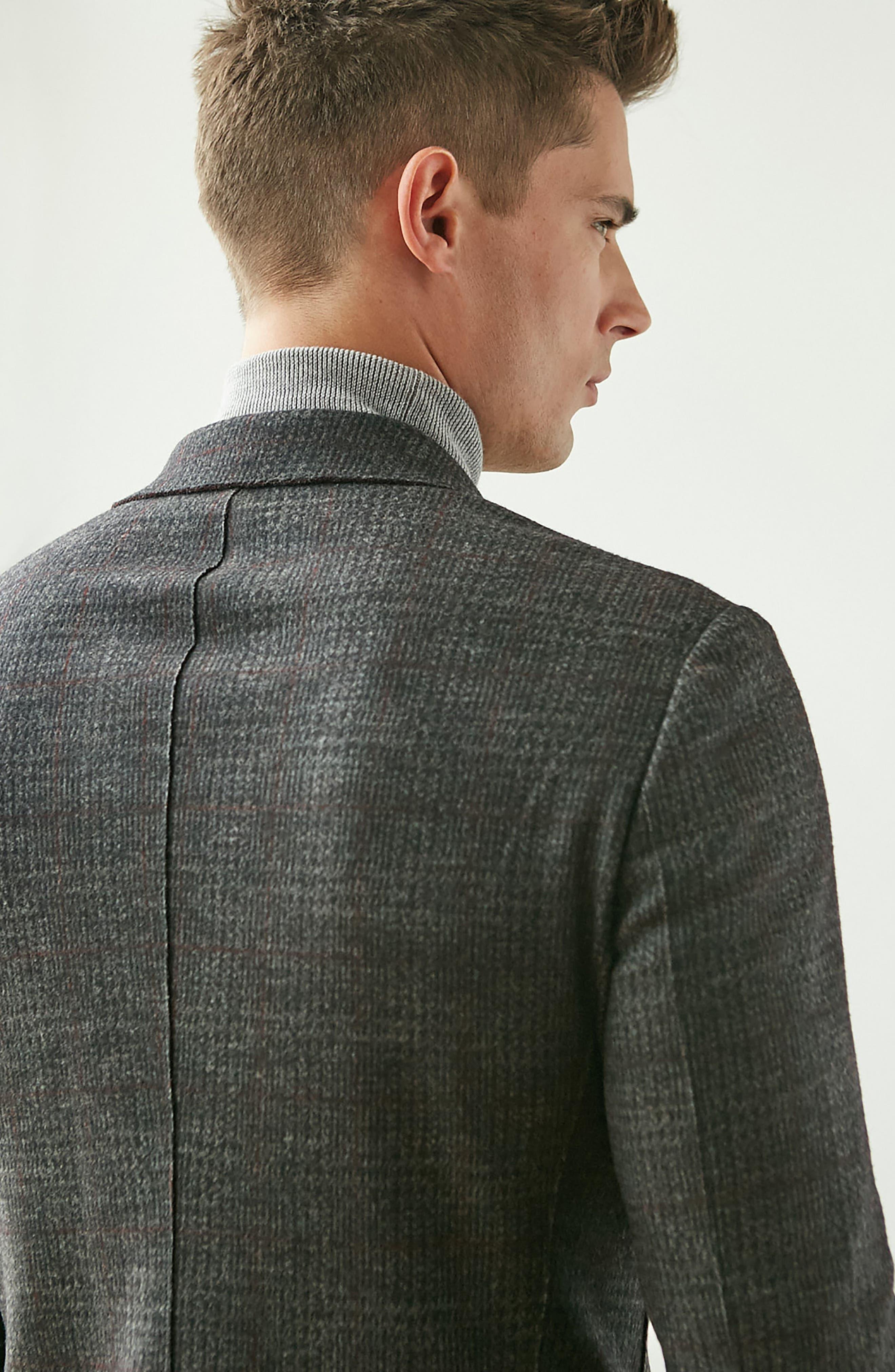 Alternate Image 7  - Bugatchi Plaid Wool Blazer