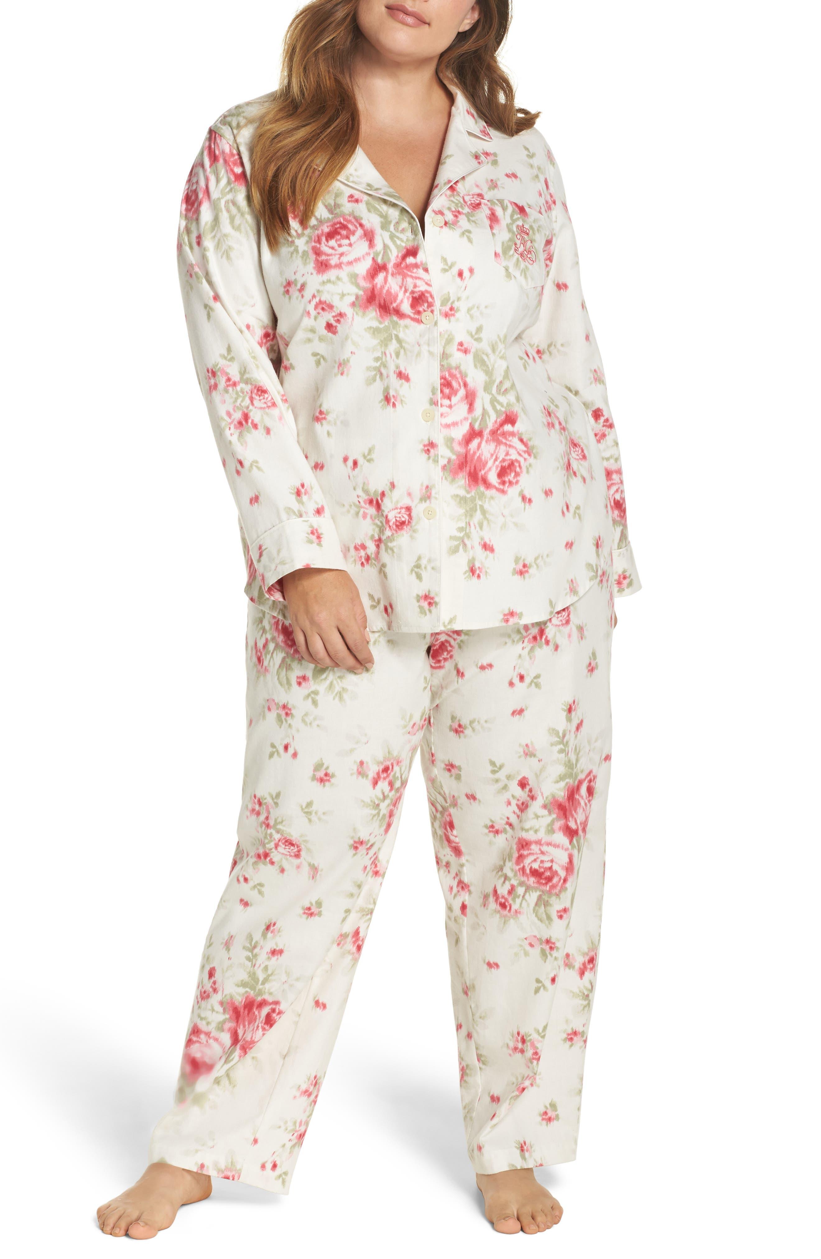 Lauren Ralph Lauren Cotton Pajamas (Plus Size)