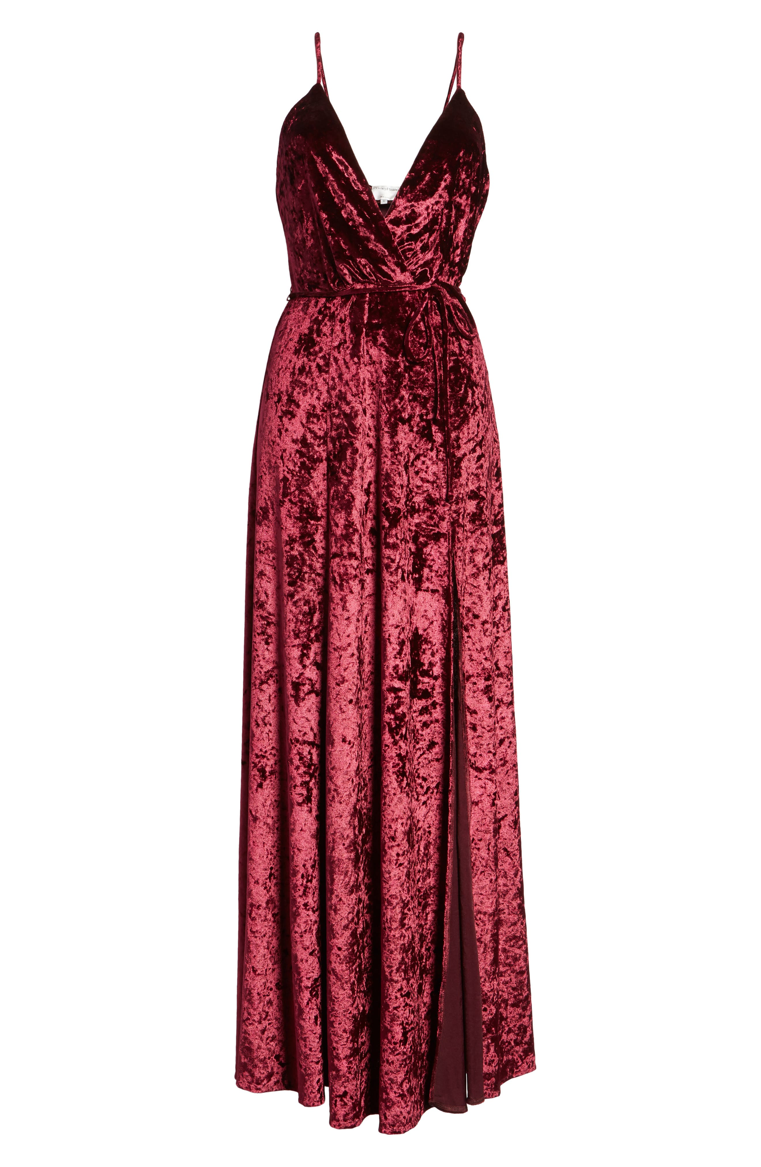 Crenshaw Maxi Dress,                             Alternate thumbnail 6, color,                             Bordeaux