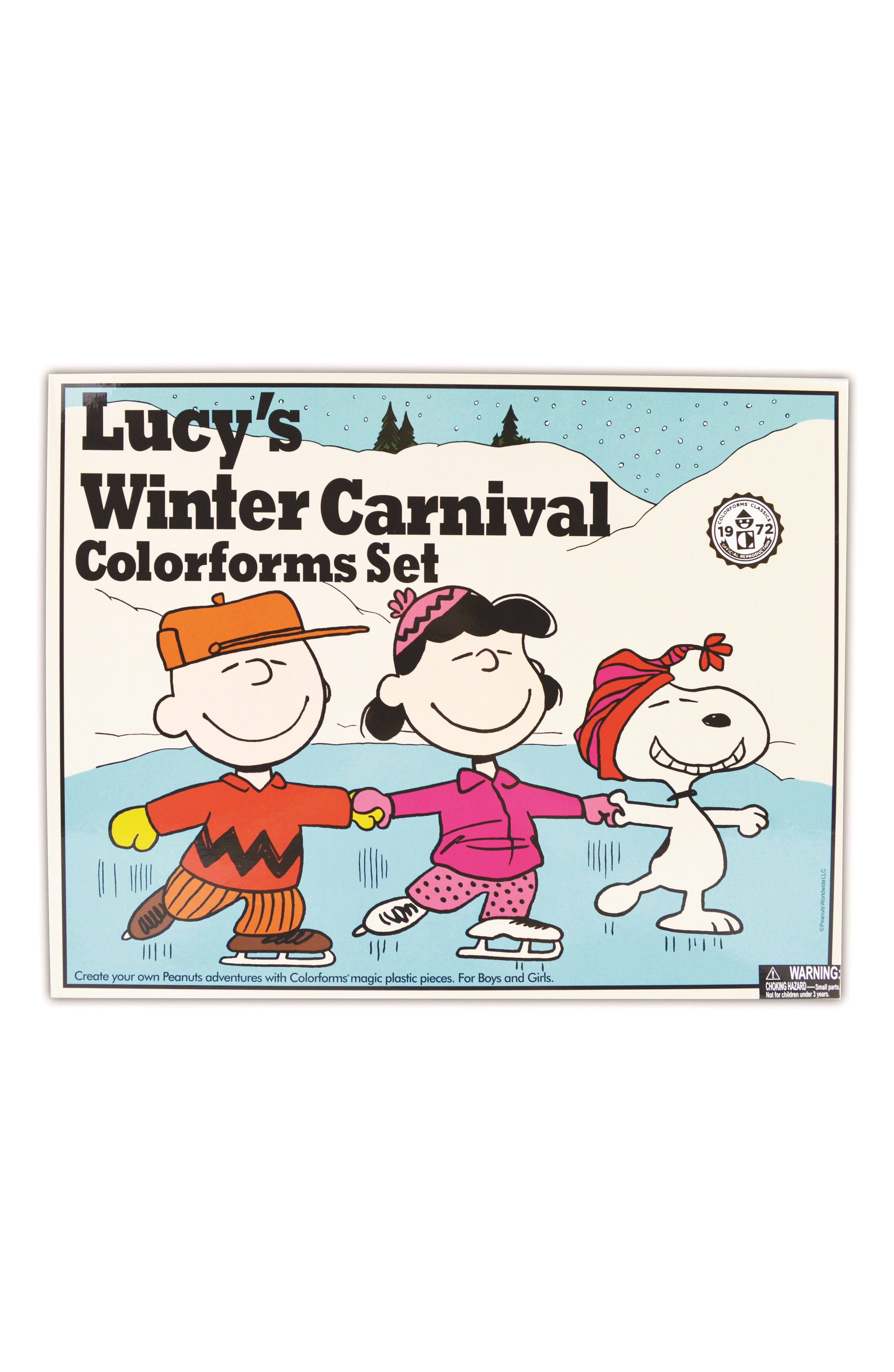 Colorforms Retro Lucy's Winter Carnival Sticker Play Set