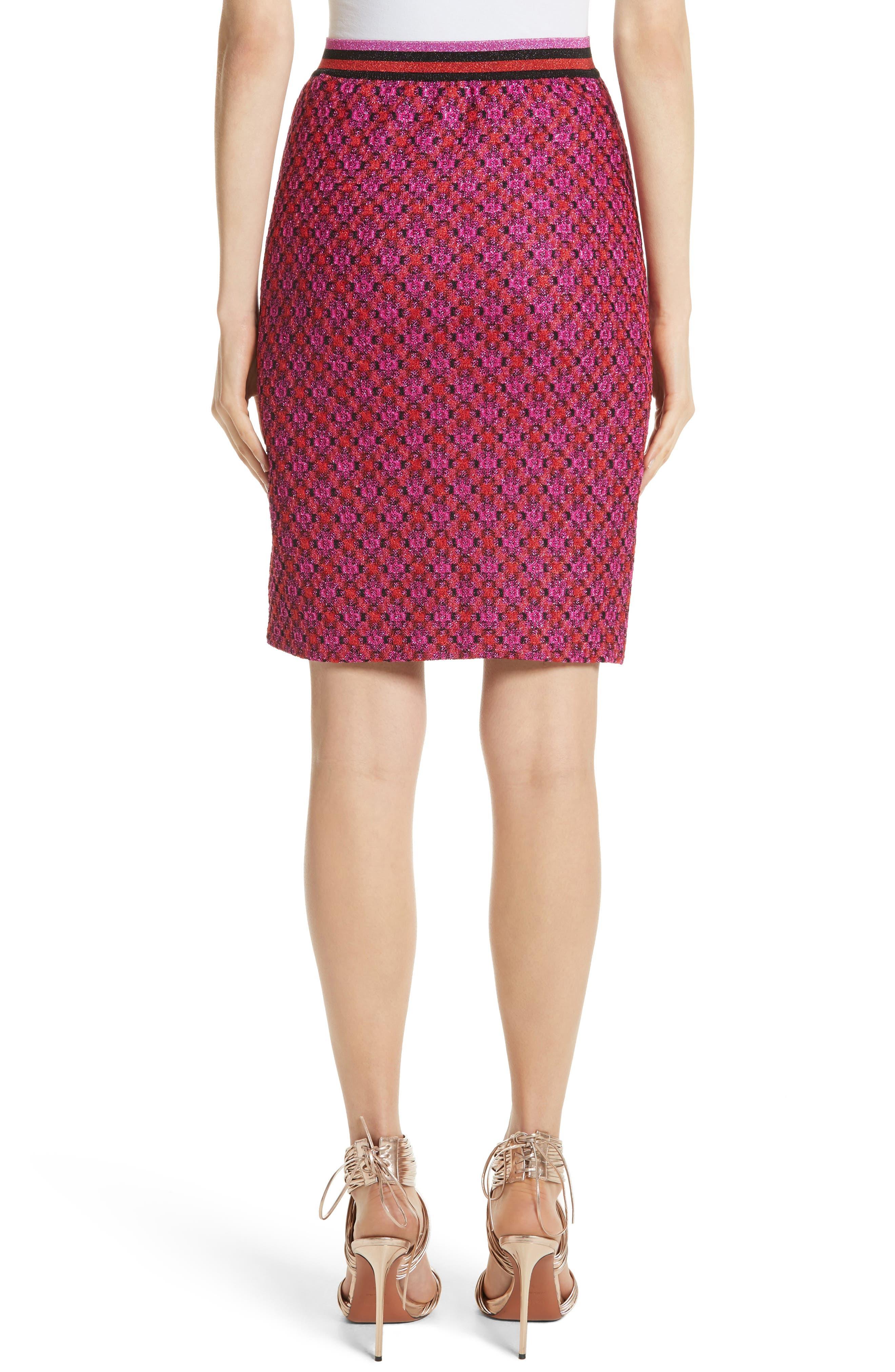 Alternate Image 2  - Missoni Metallic Crisscross Knit Pencil Skirt