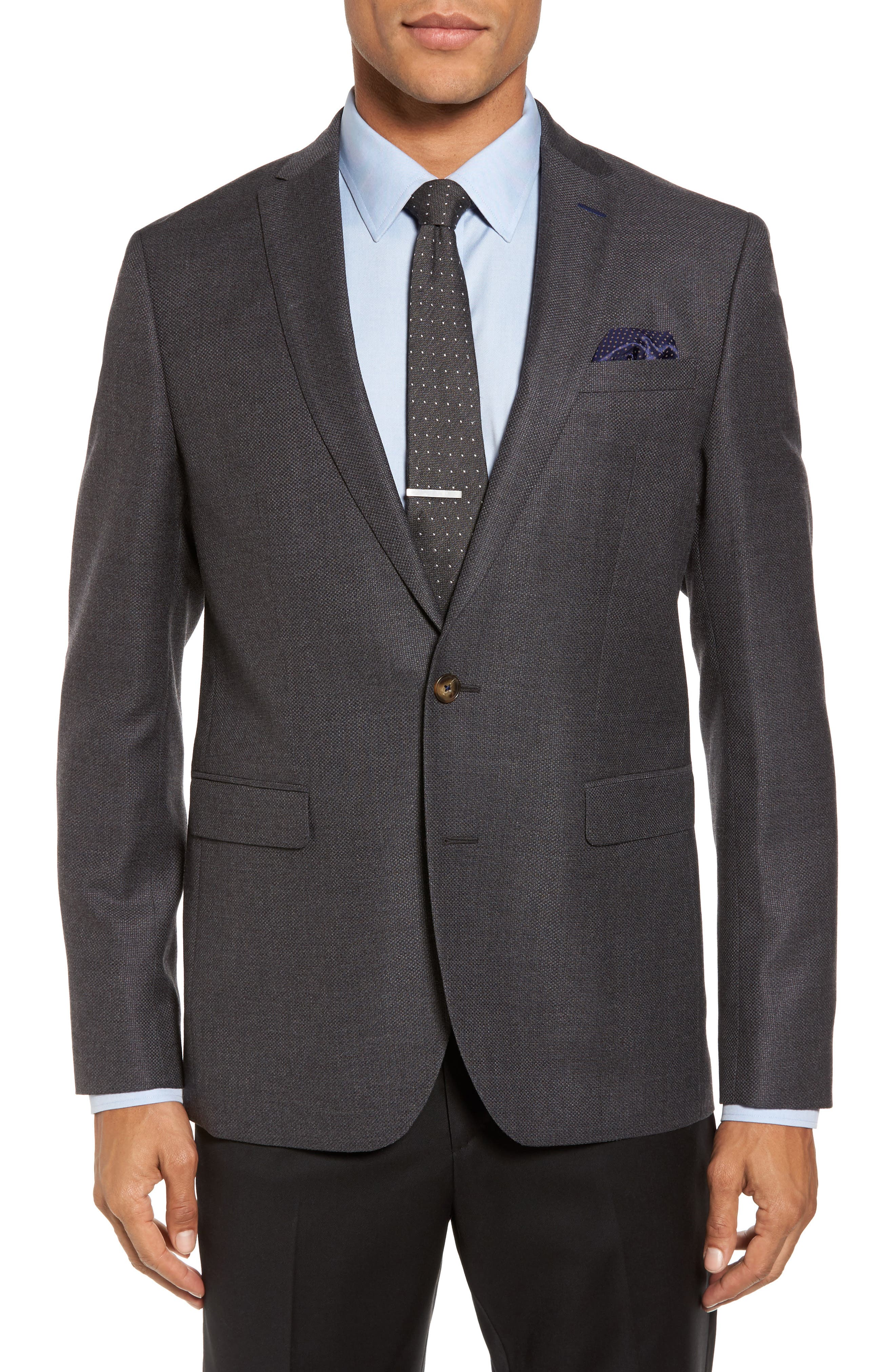 Main Image - Sand Trim Fit Wool Blazer
