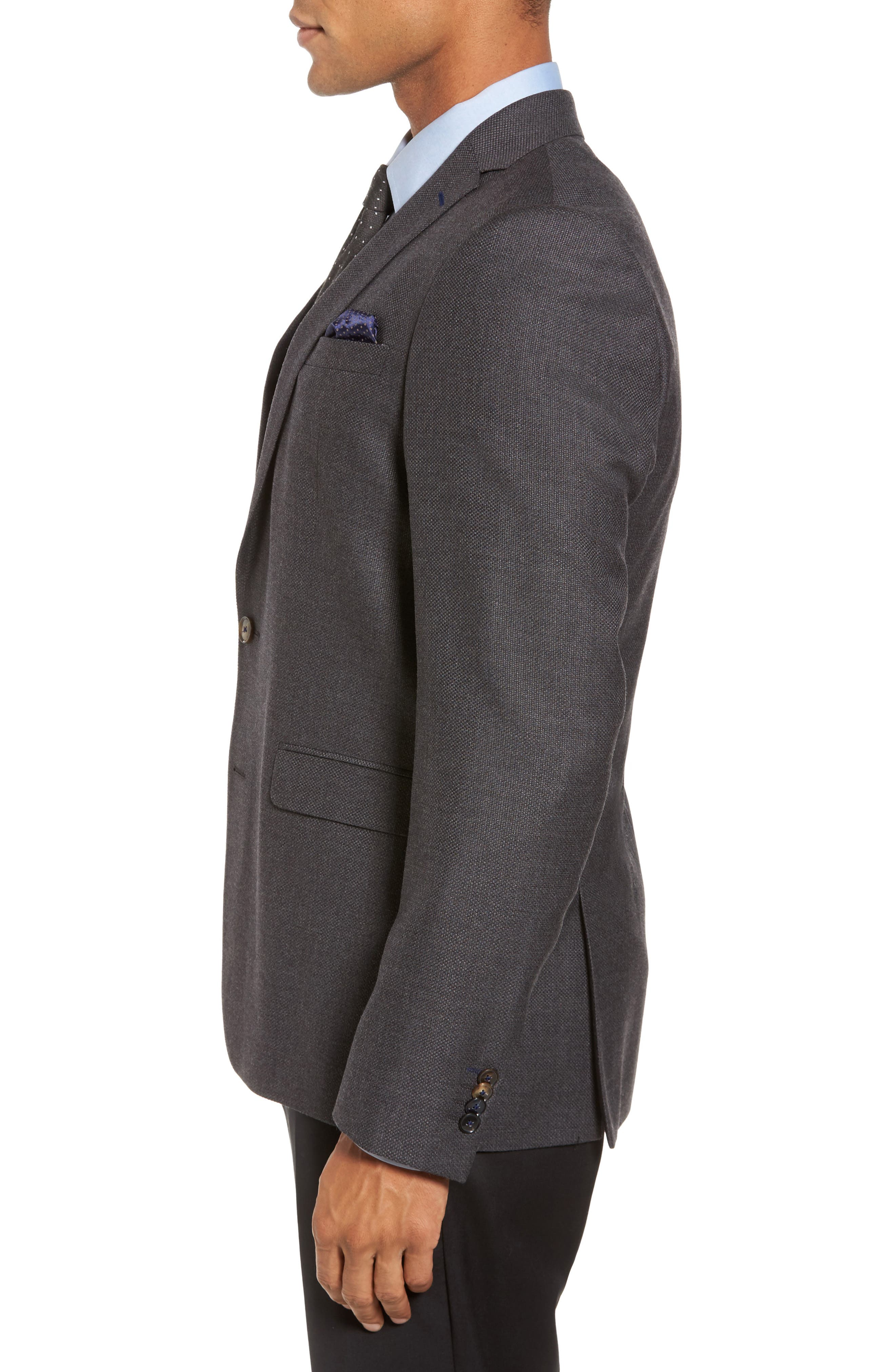 Alternate Image 3  - Sand Trim Fit Wool Blazer