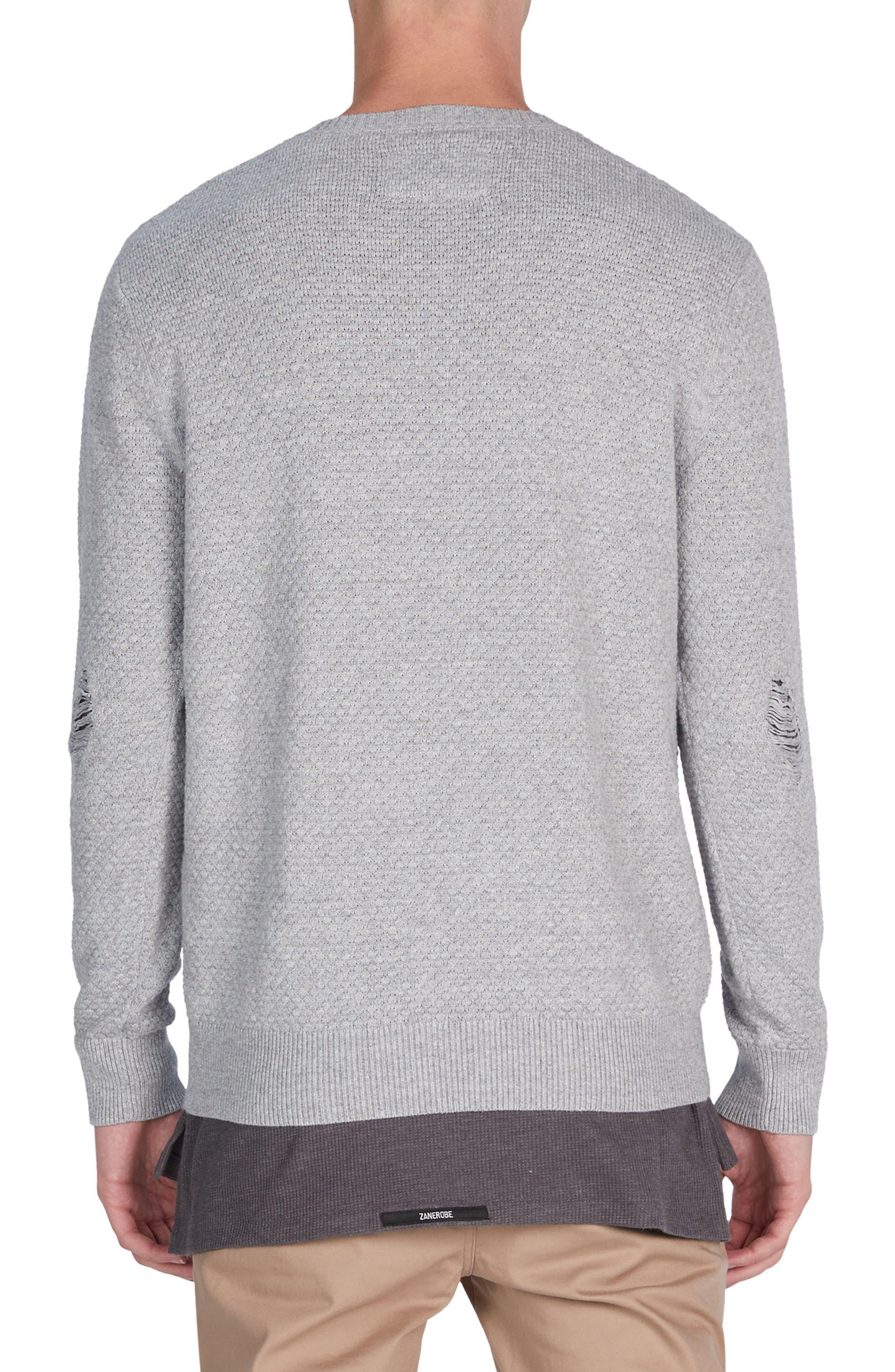 Grip Crewneck Sweater,                             Alternate thumbnail 2, color,                             Grey Marle