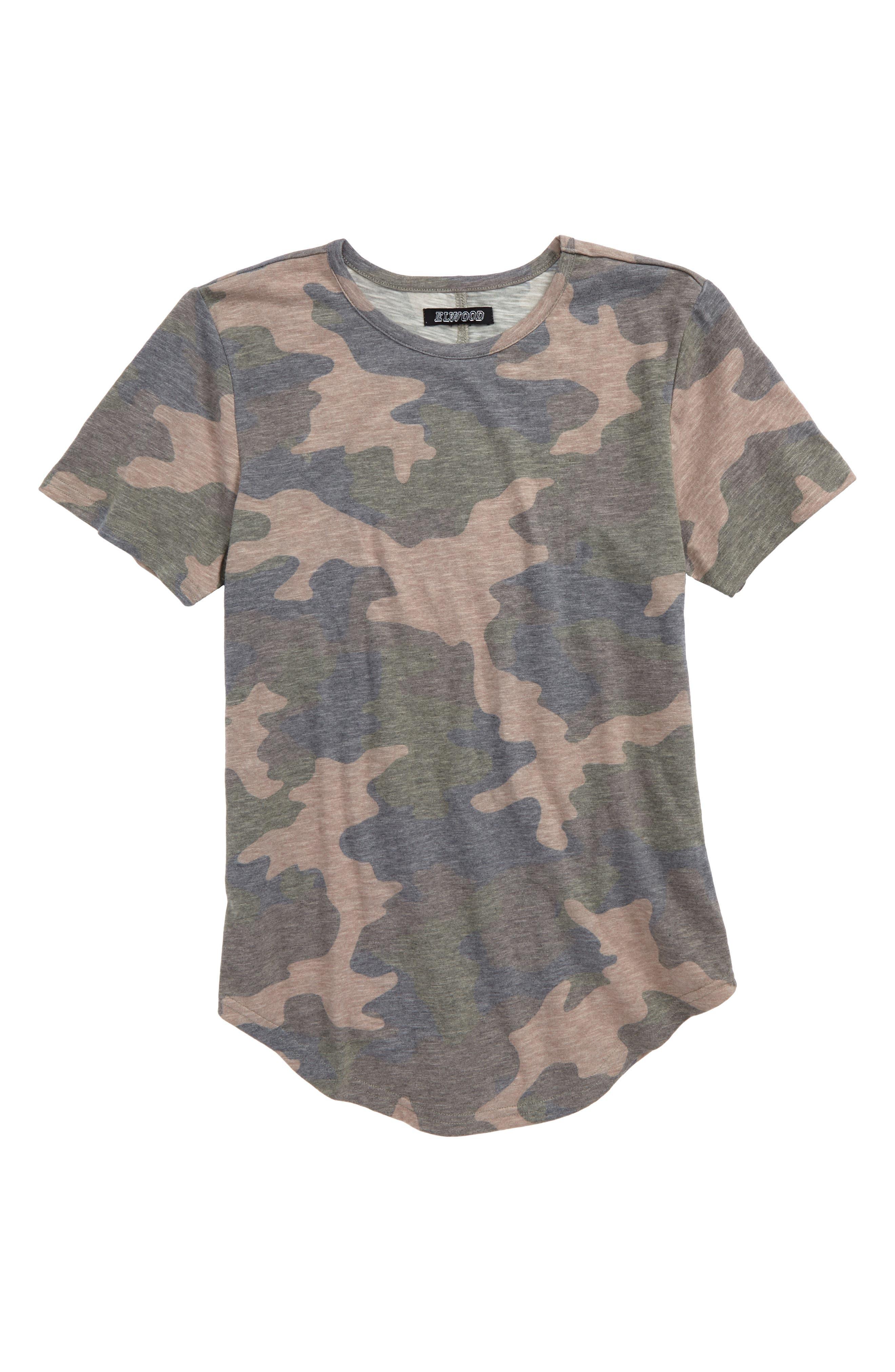 Camo Print T-Shirt,                             Main thumbnail 1, color,                             Camo