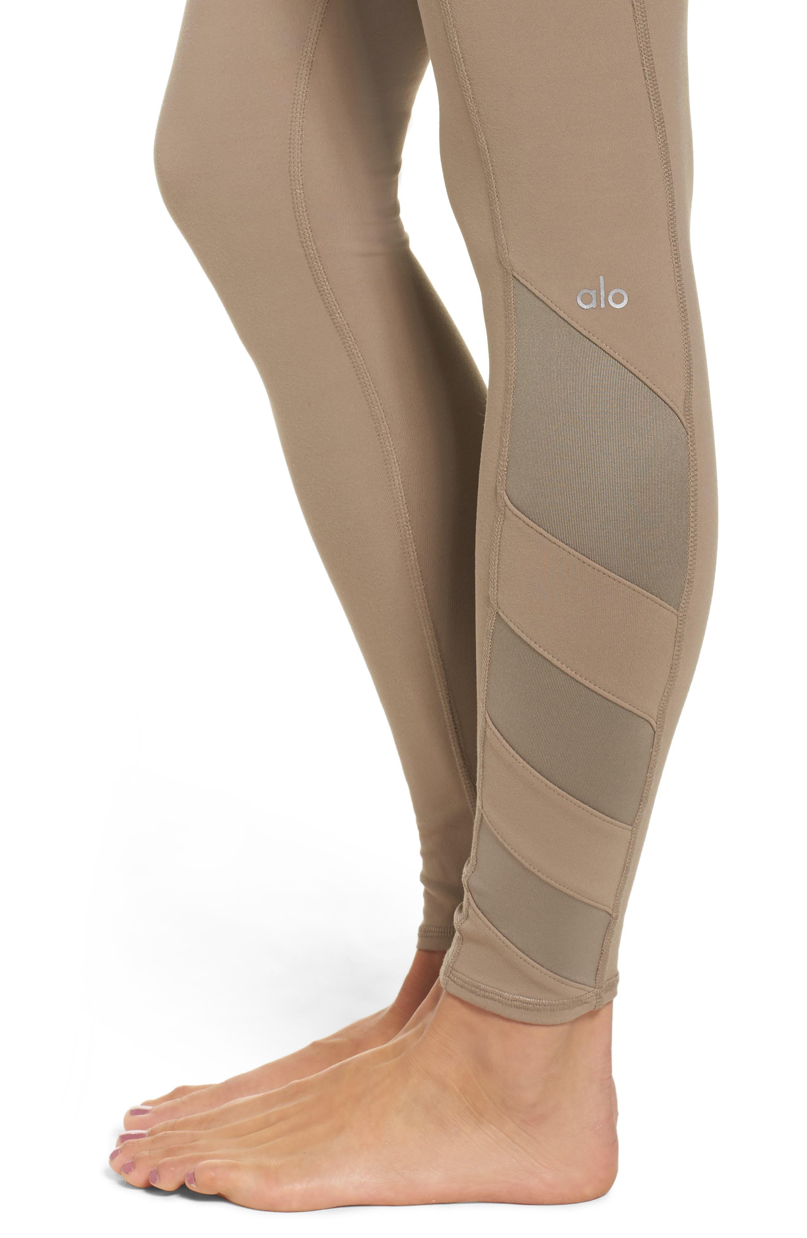 Alternate Image 4  - Alo Block High Waist Mesh Inset Leggings