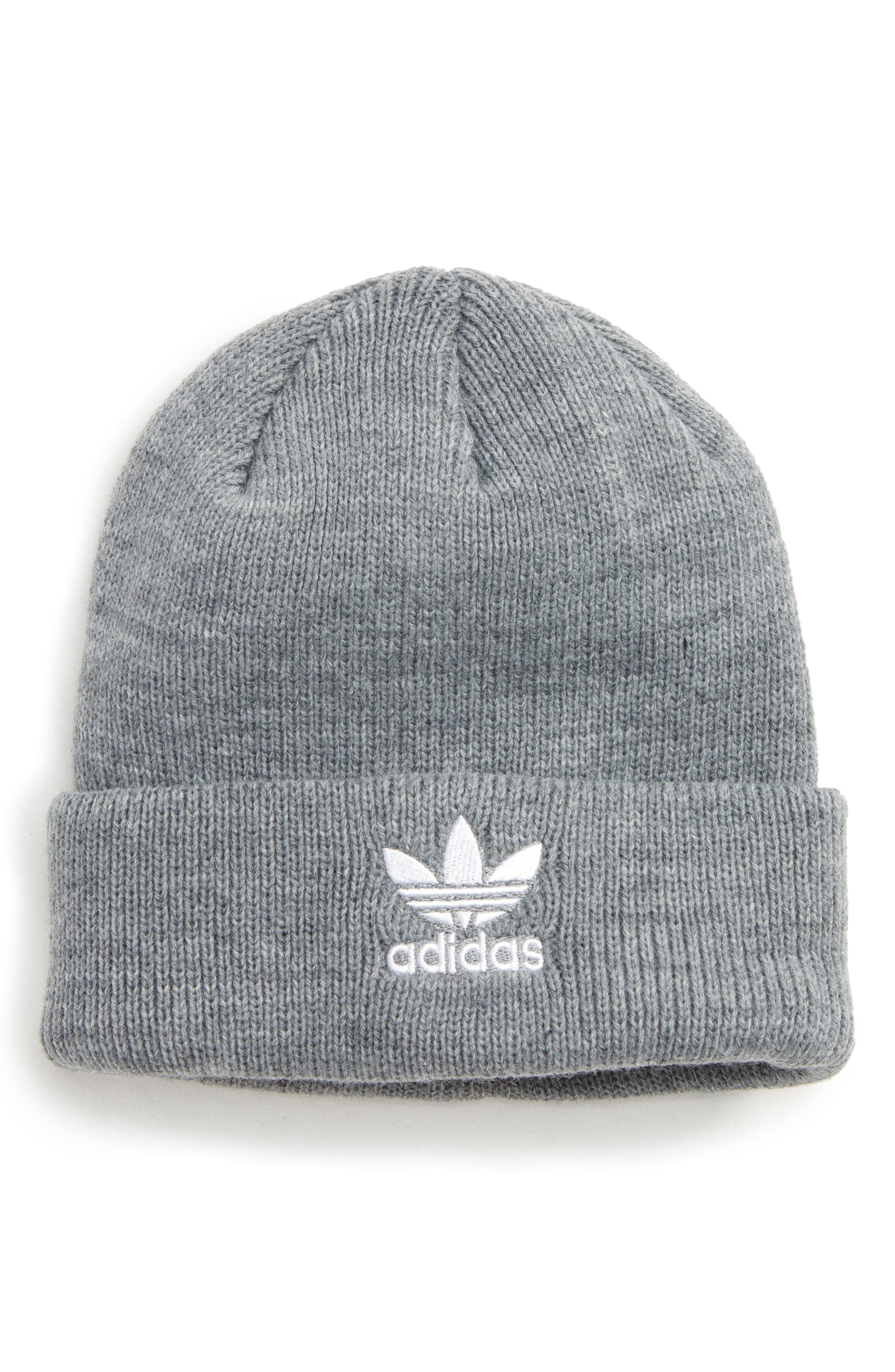 Beanie,                             Main thumbnail 1, color,                             Med Grey