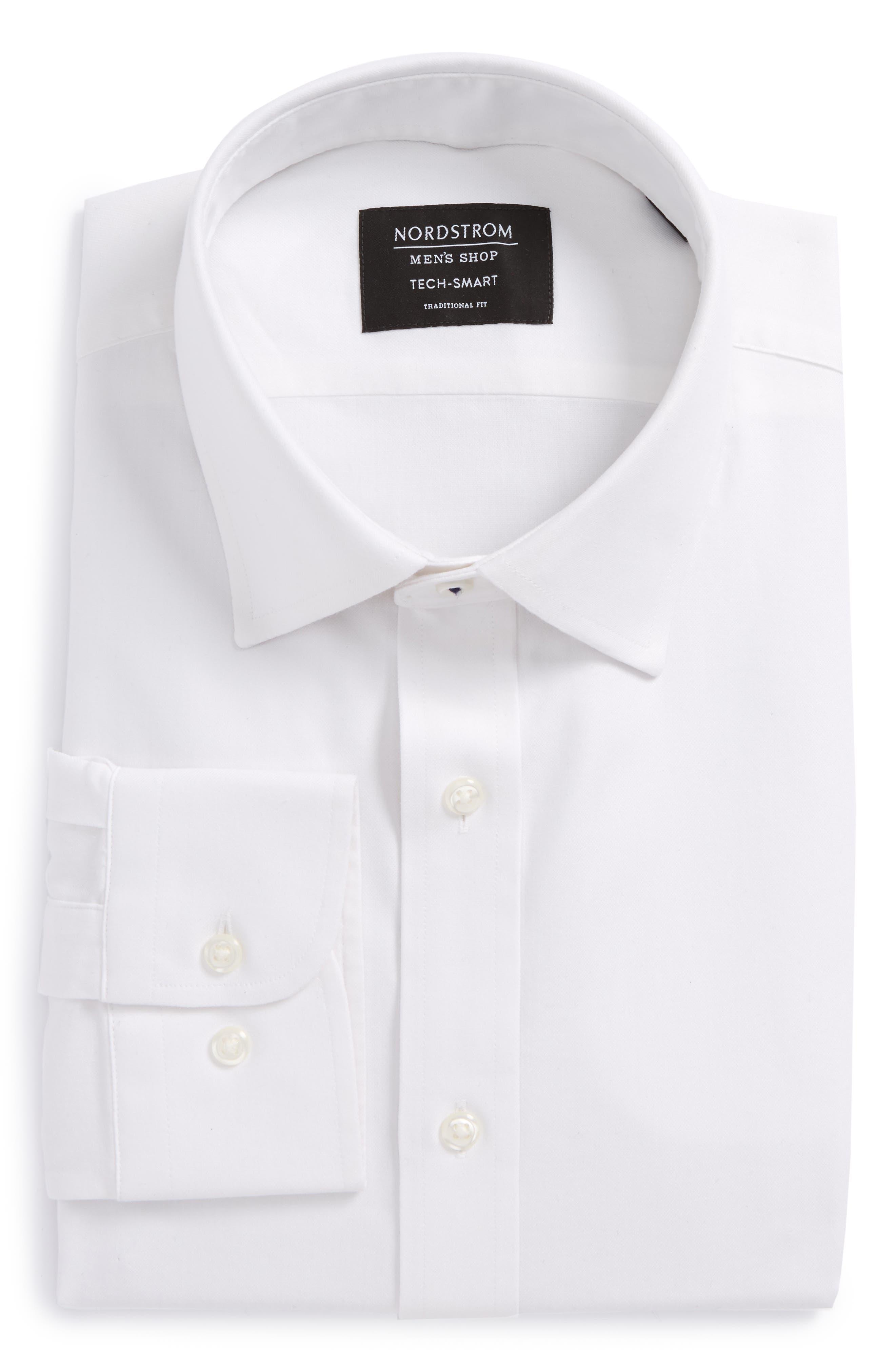 Main Image - Nordstrom Men's Shop Tech-Smart Traditional Fit Solid Dress Shirt