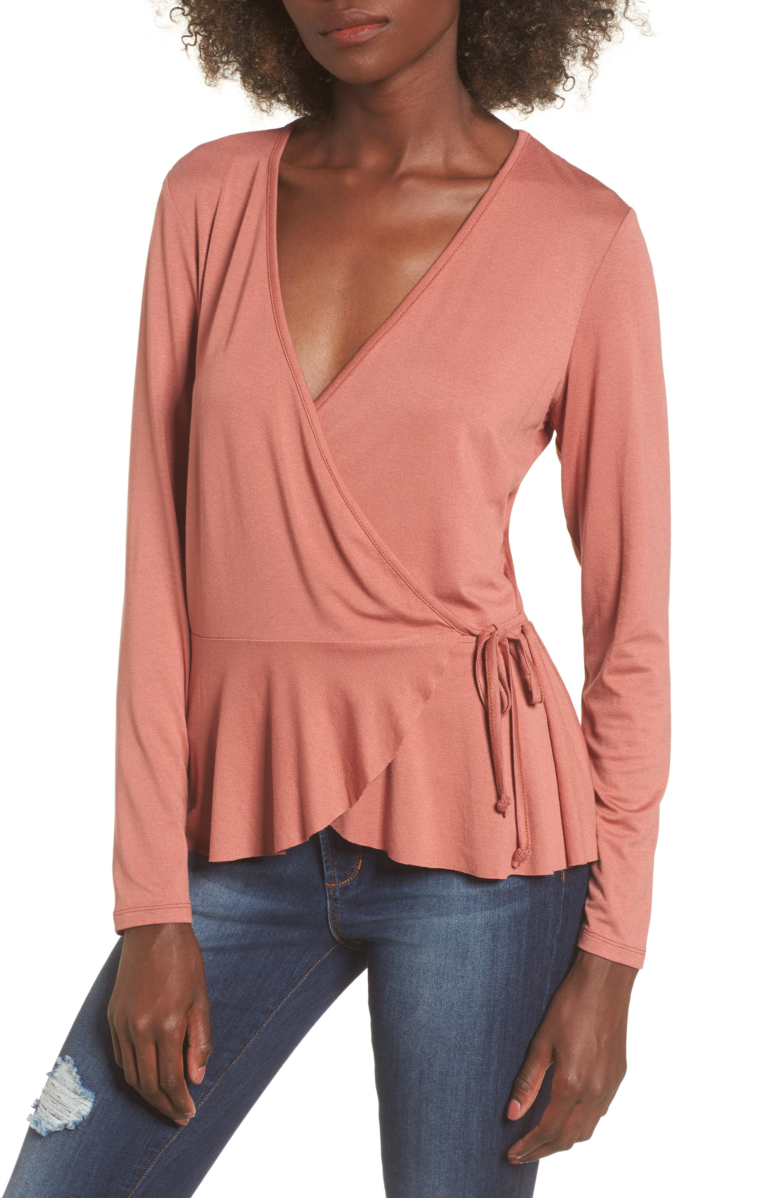 Alternate Image 1 Selected - Leith Wrap Top
