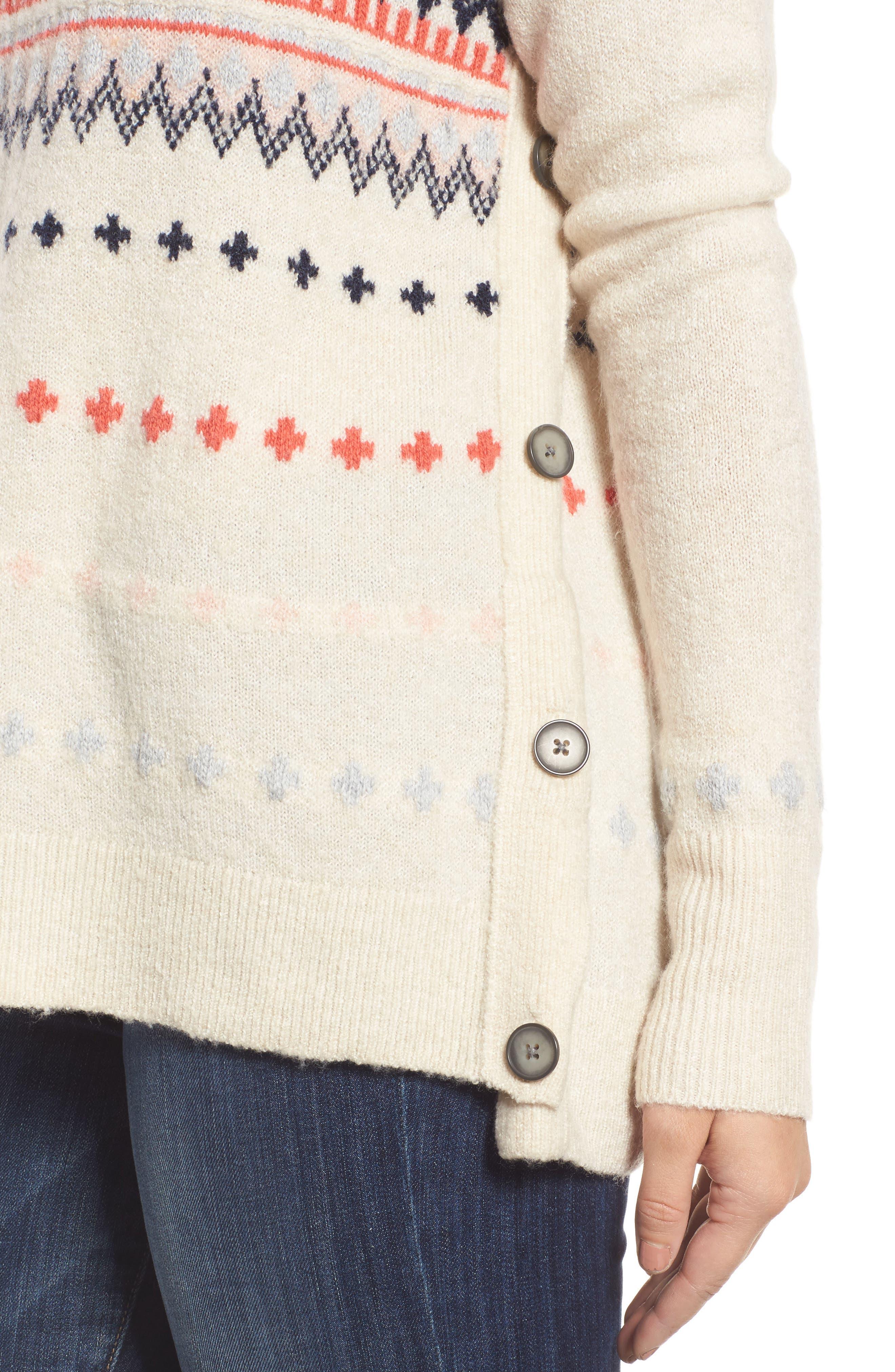 Alternate Image 4  - Caslon® Long Sleeve Side Button Sweater (Regular & Petite)