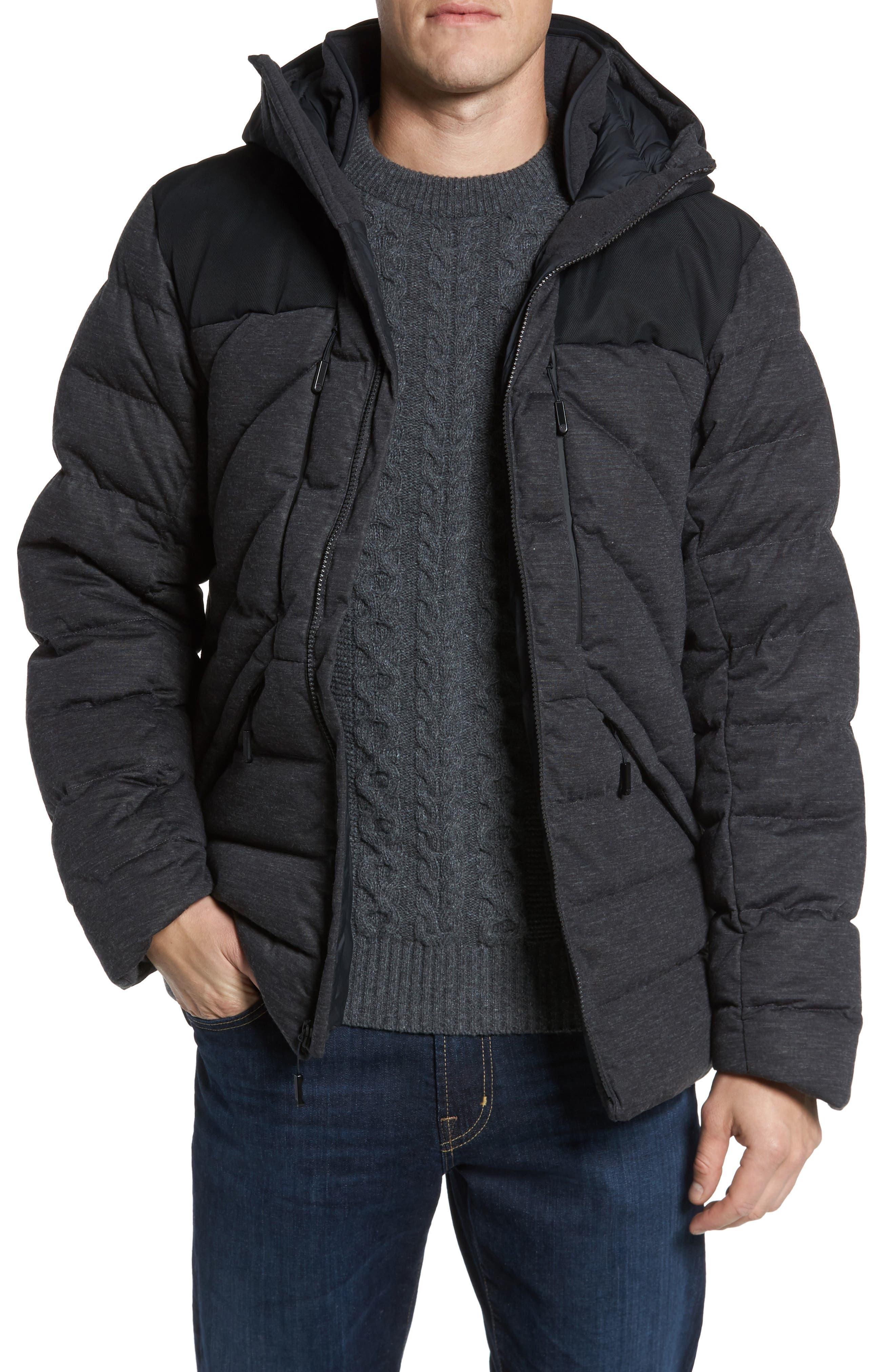 Cryos Waterproof Down Jacket,                         Main,                         color, Dark Grey Heather