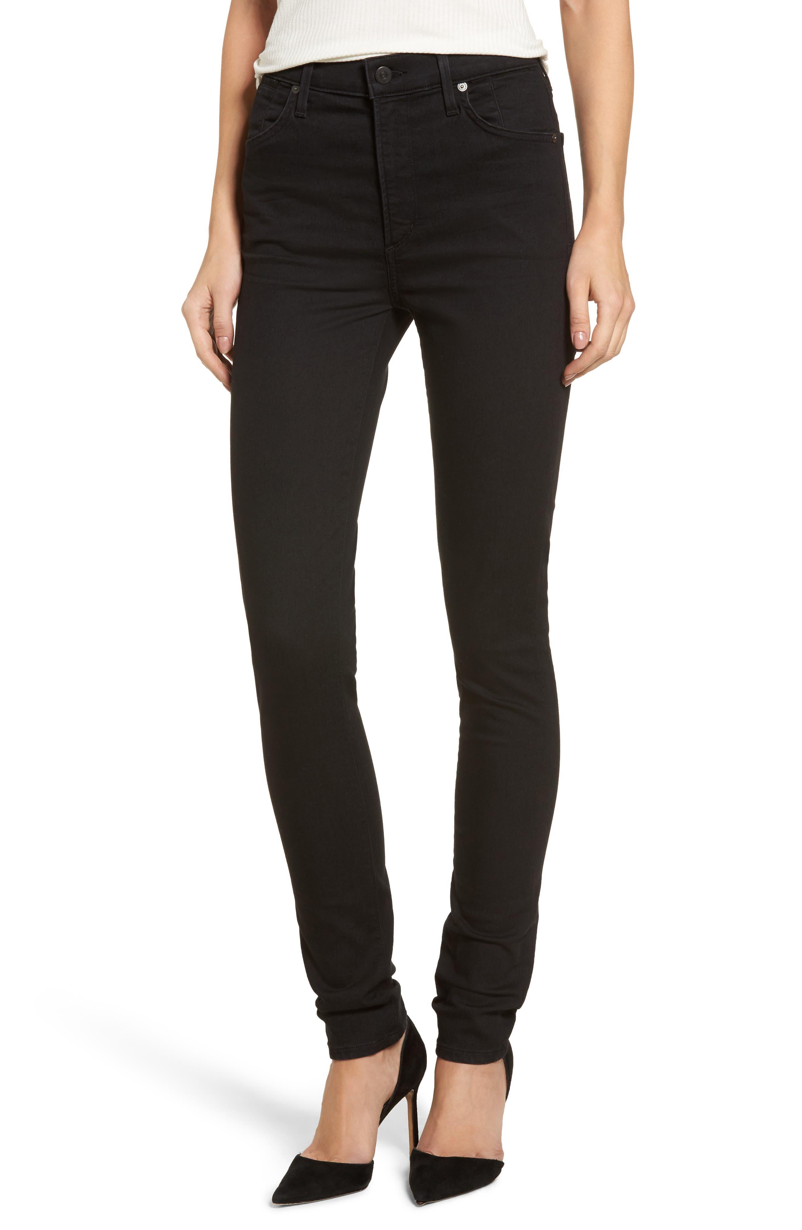 Carlie High Waist Skinny Jeans,                         Main,                         color, All Night