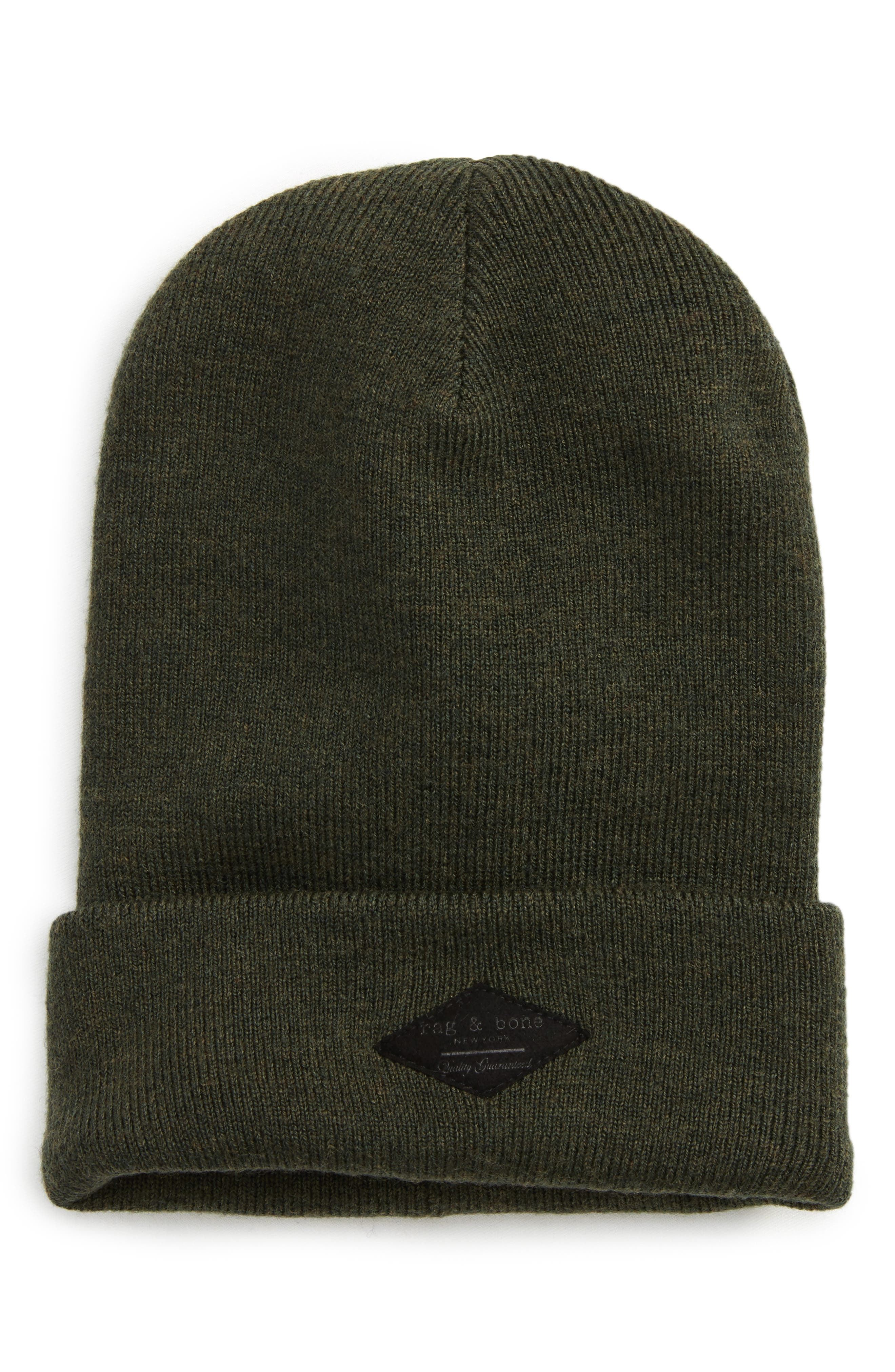 Addison Stretch Merino Wool Knit Cap,                         Main,                         color, Army Green
