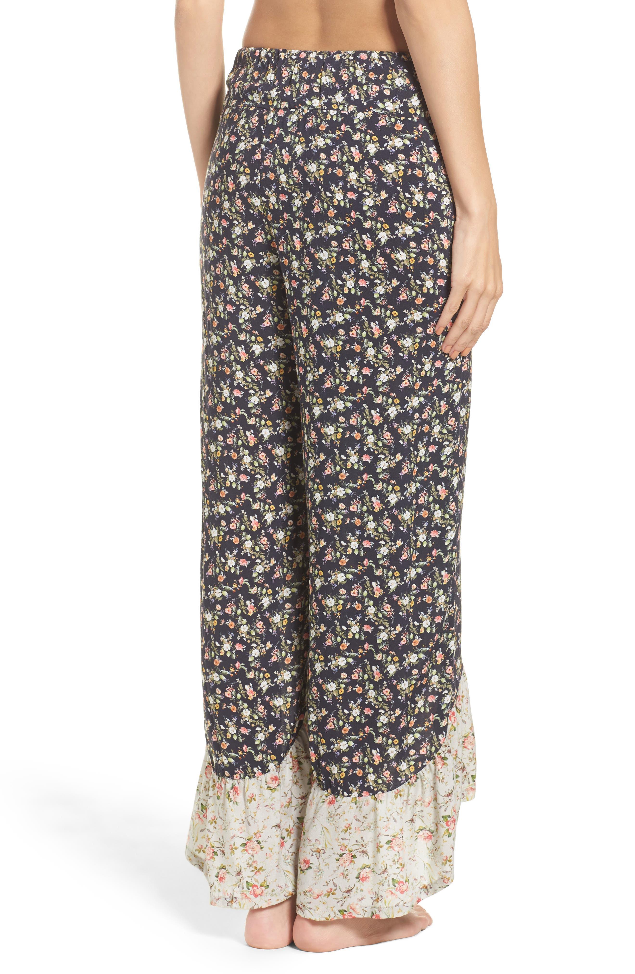 Alternate Image 2  - LACAUSA Floral Pajama Pants