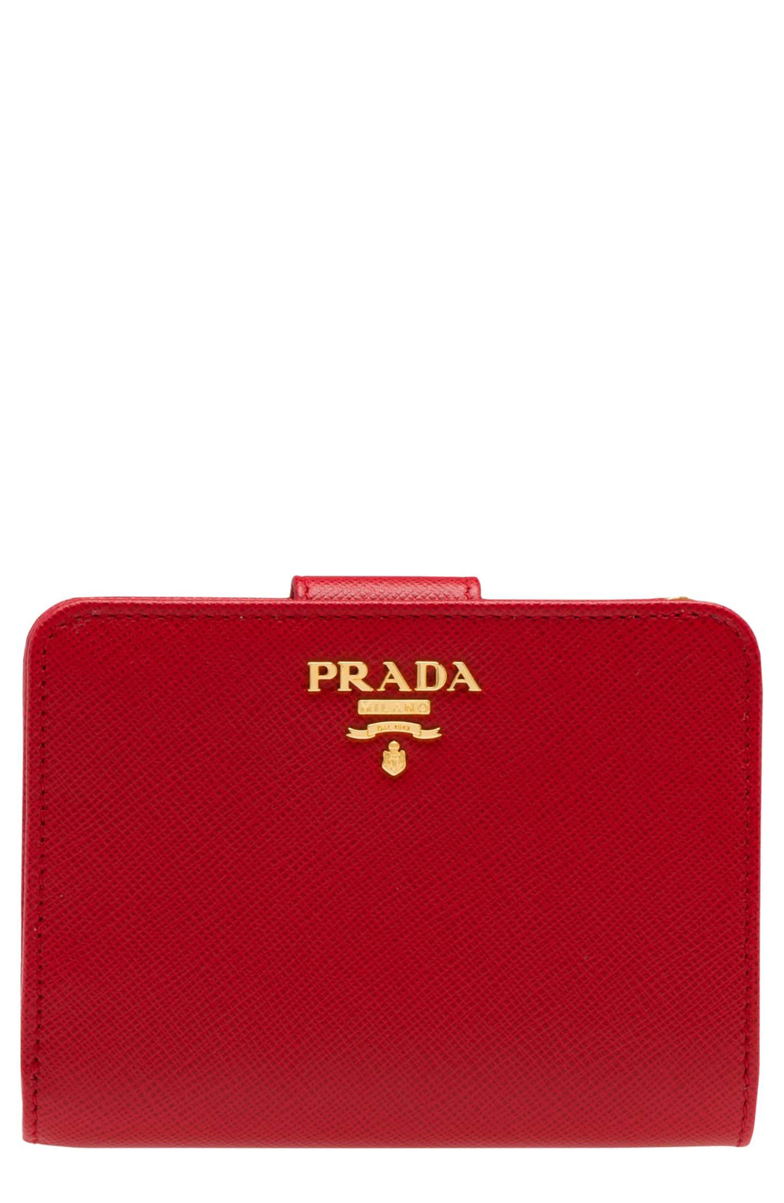 Prada Small Saffiano Tab Wallet