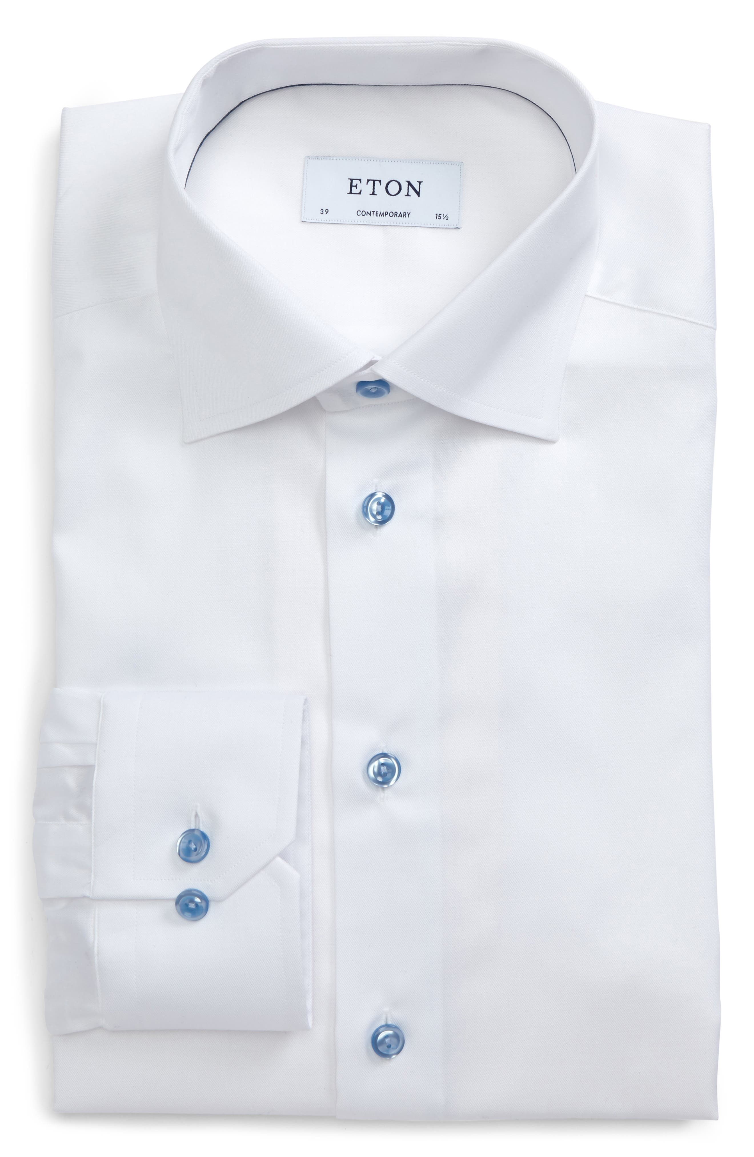Eton Contemporary Fit Signature Twill Dress Shirt