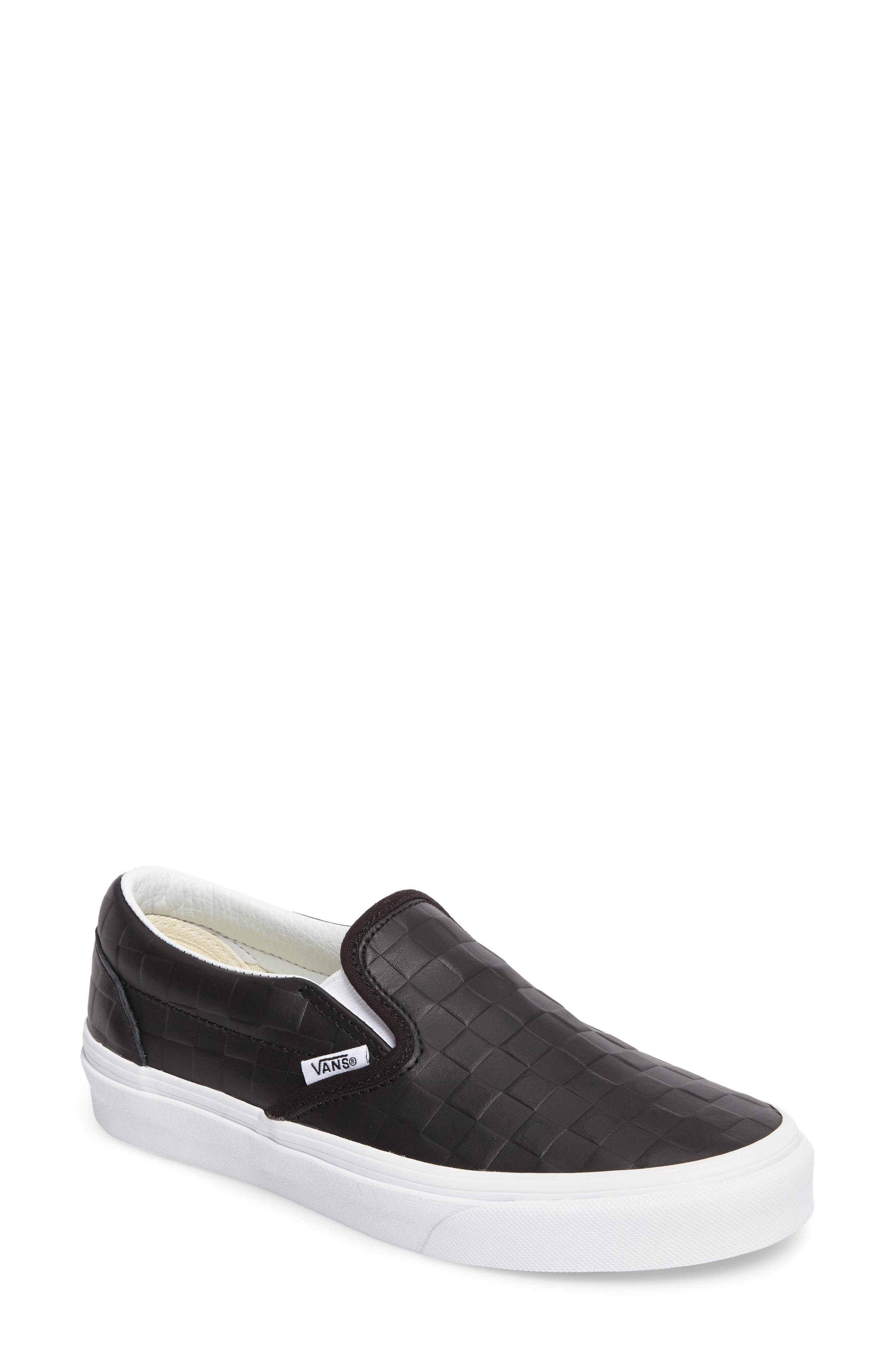 Classic Slip-On Sneaker,                         Main,                         color, Checkerboard/ Black