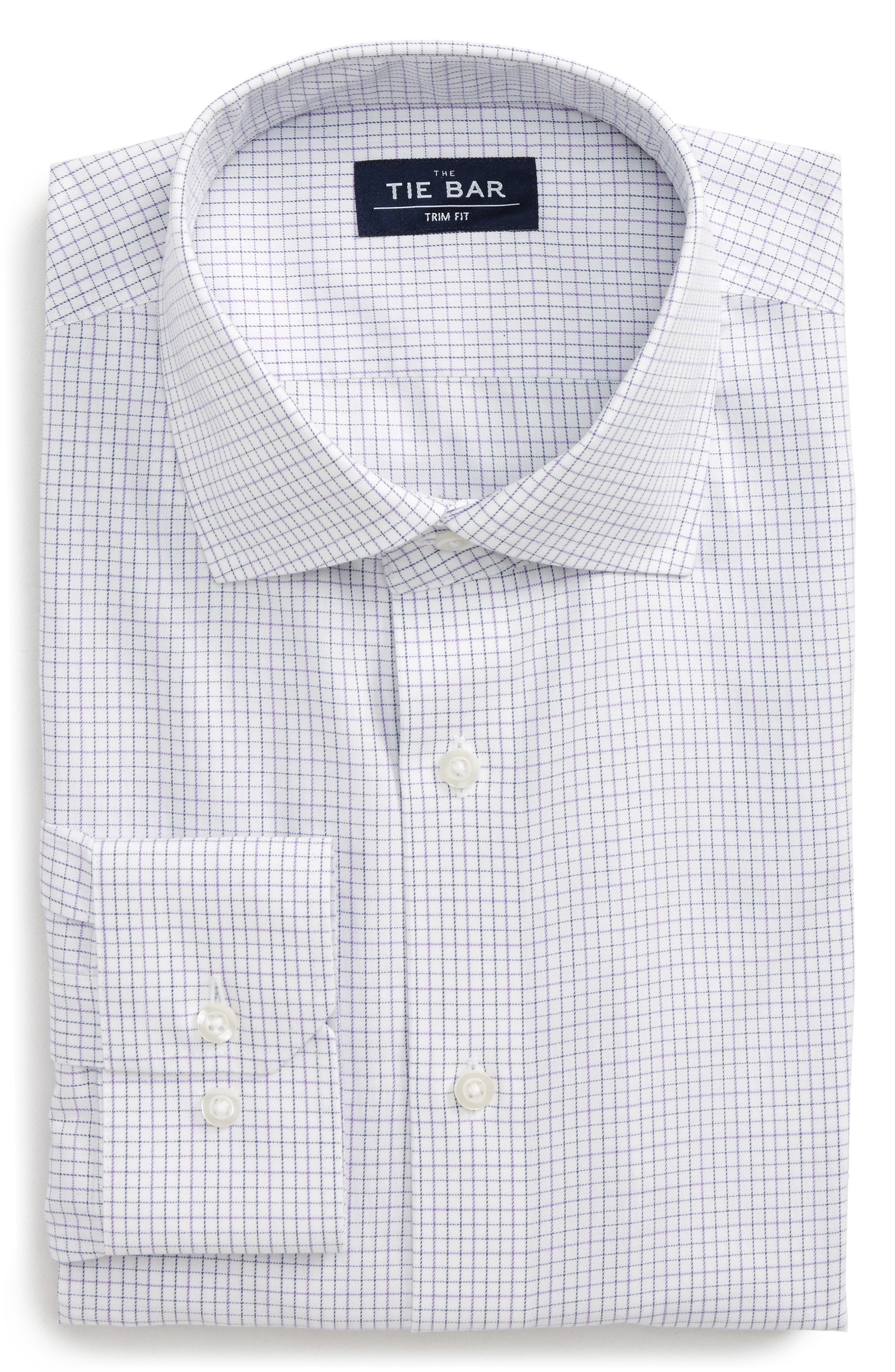 The Tie Bar Trim Fit Check Dress Shirt (3 for $140)