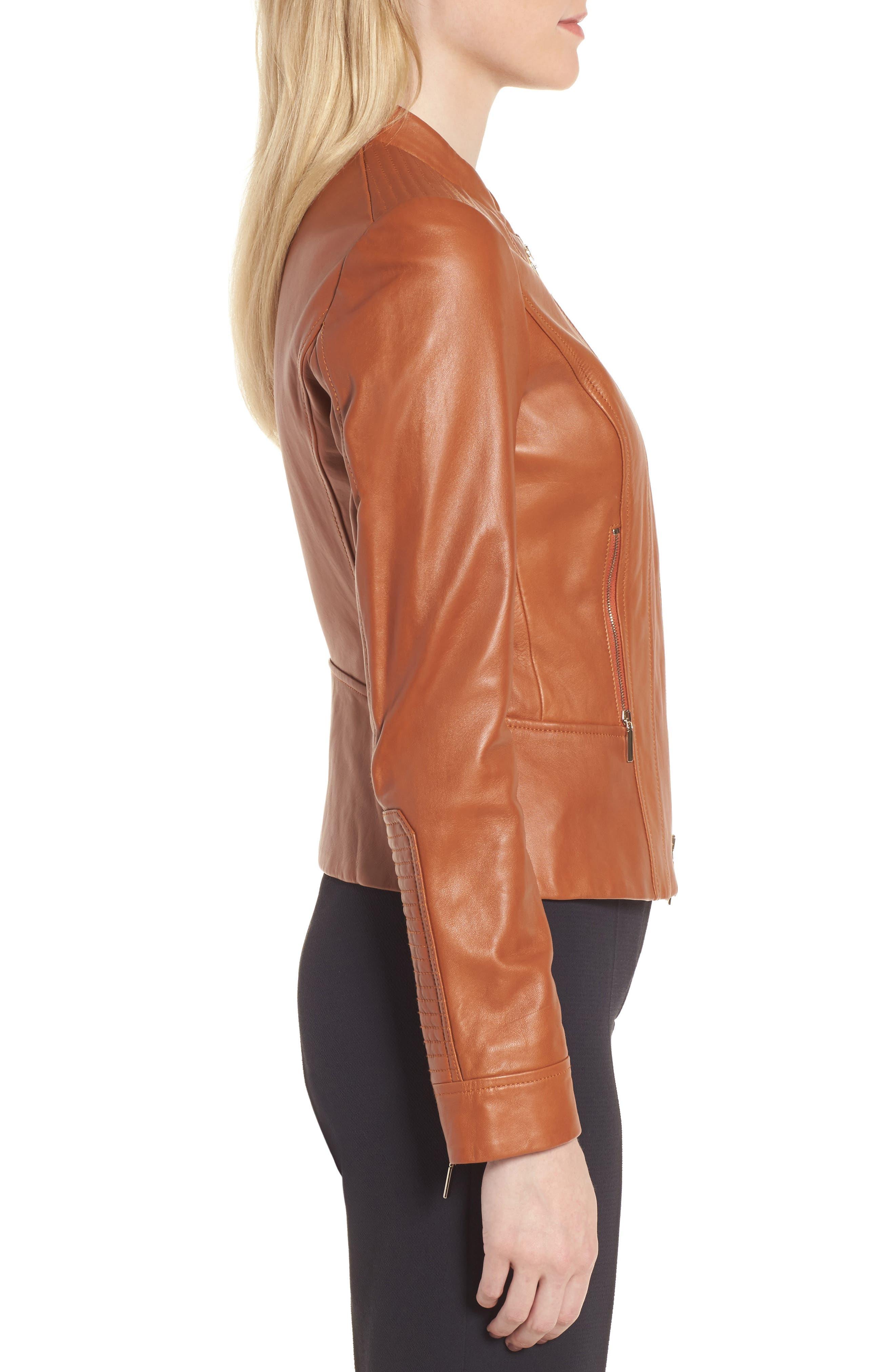 Alternate Image 3  - BOSS Sabiza Leather Jacket