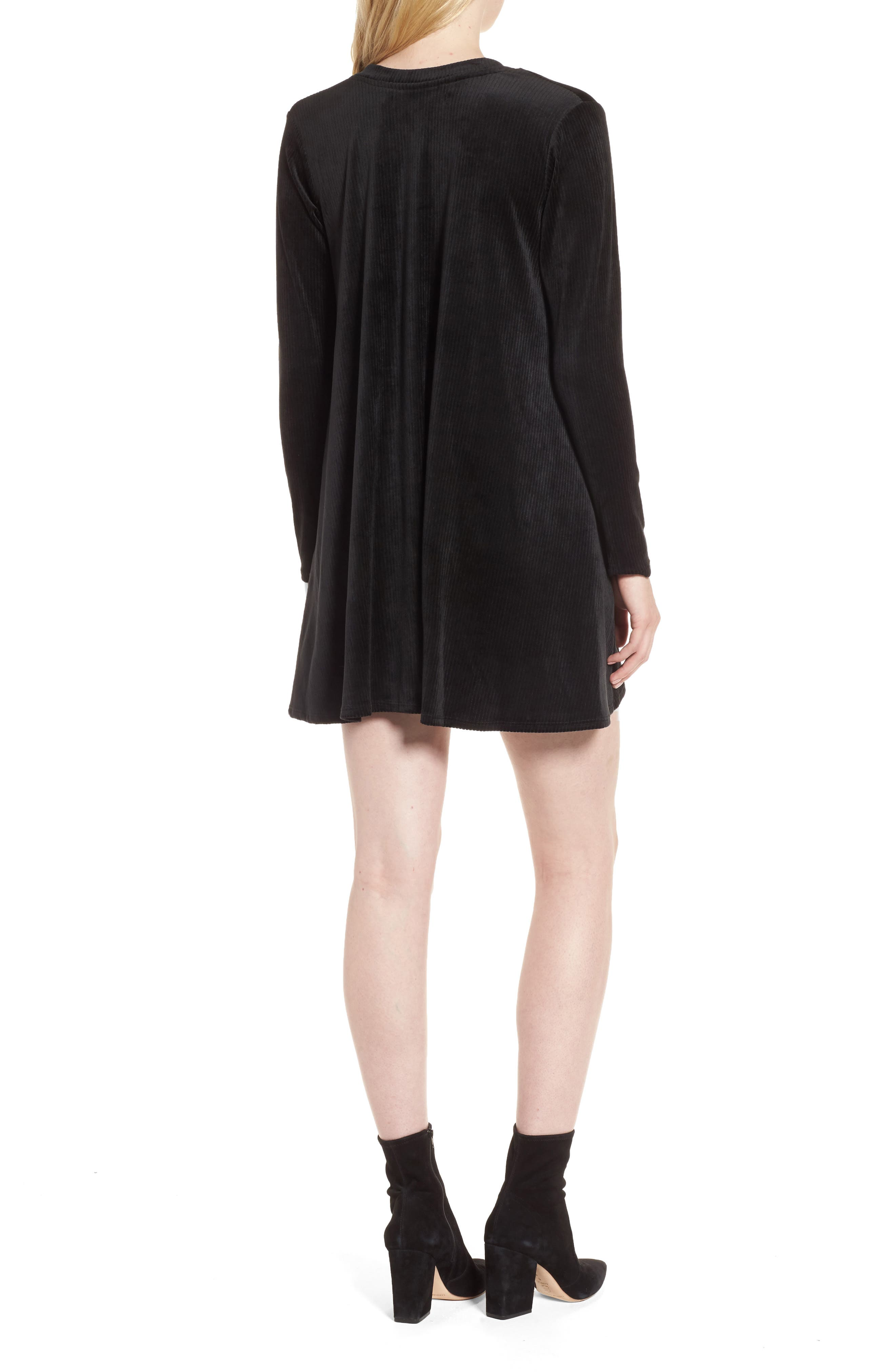 Alternate Image 2  - Delacy Hannah Velvet Shift Dress