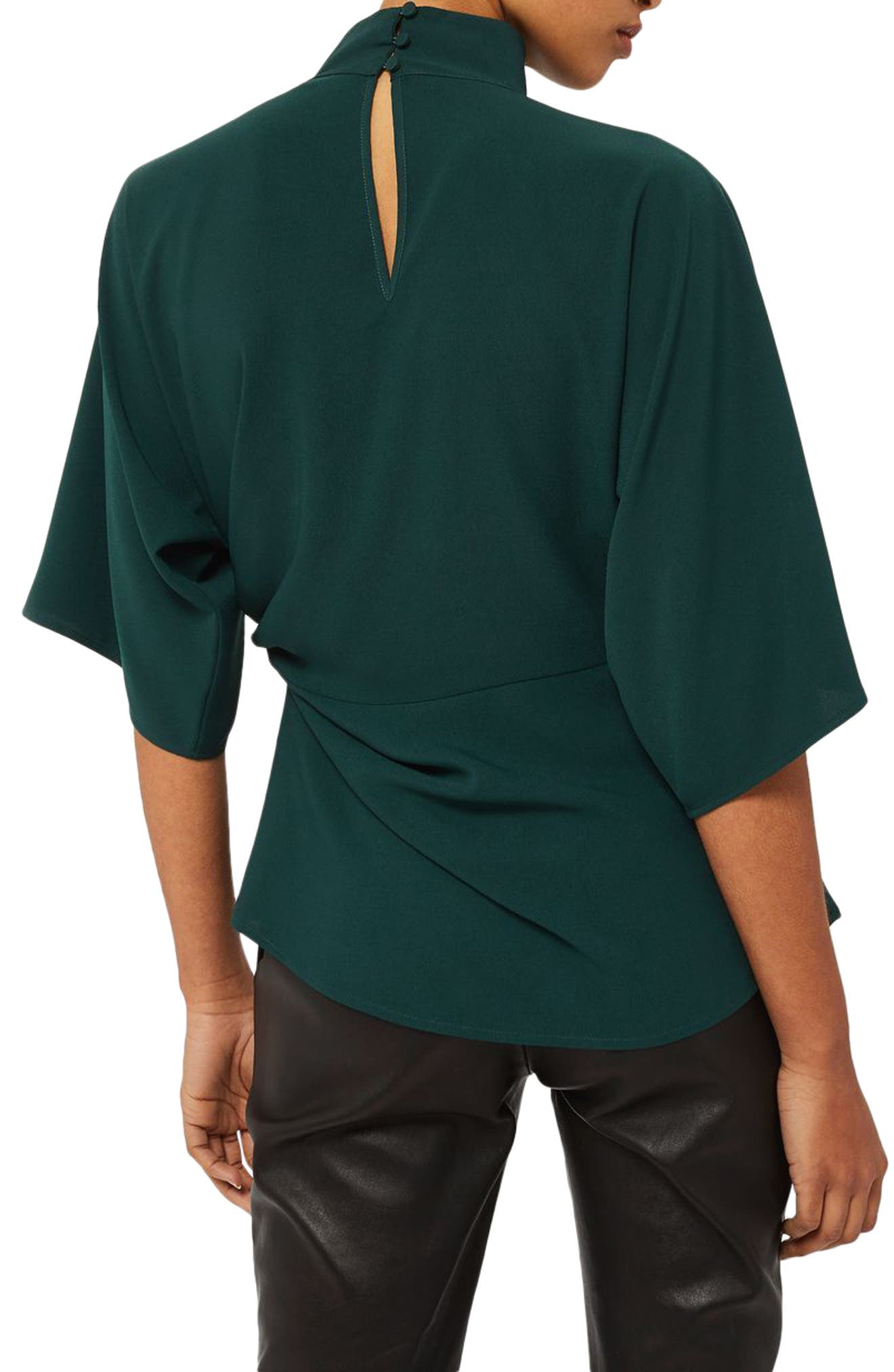 Alternate Image 2  - Topshop Origami Tuck Blouse