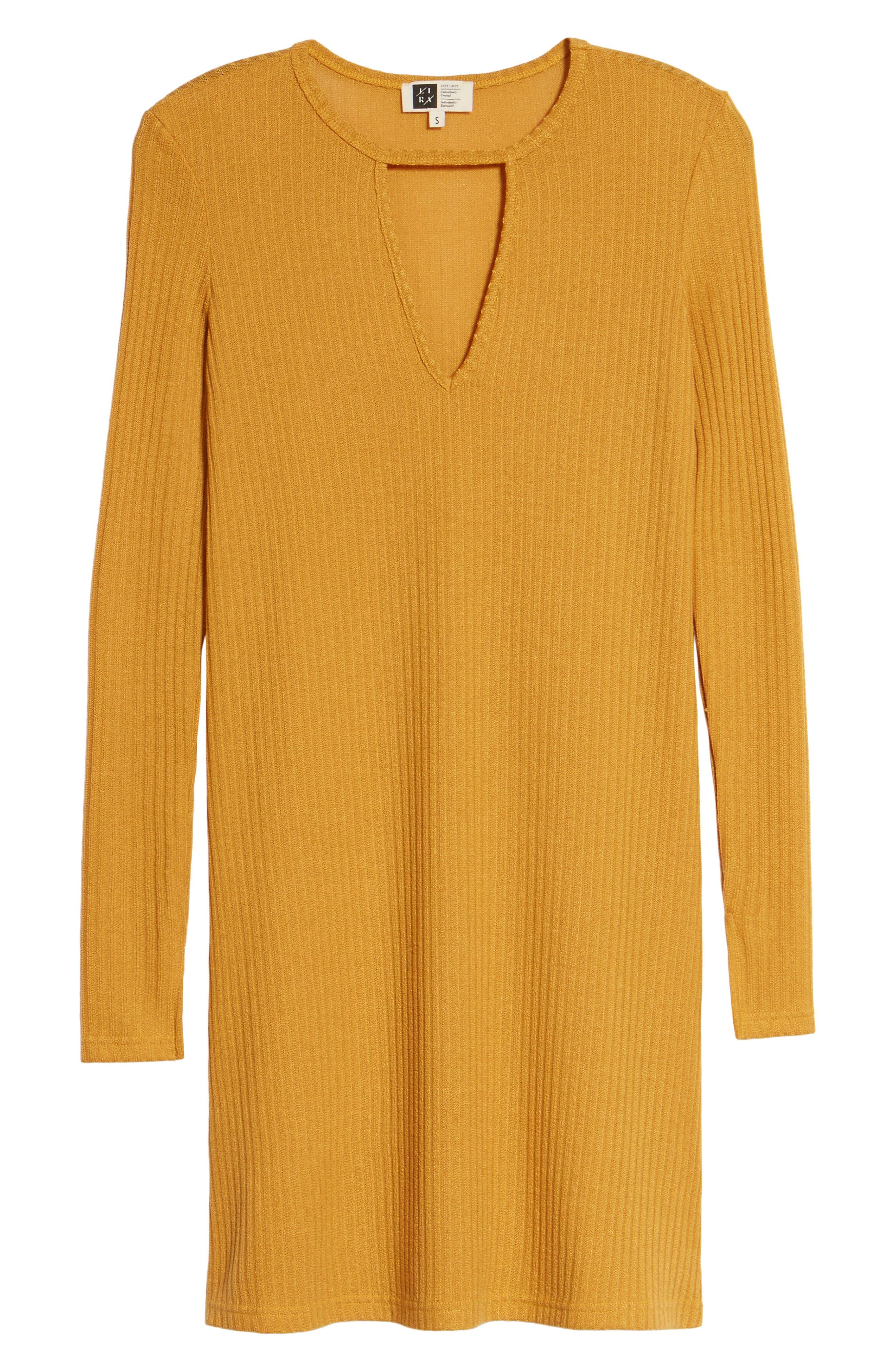 Maven Thermal Dress,                             Alternate thumbnail 6, color,                             Mustard