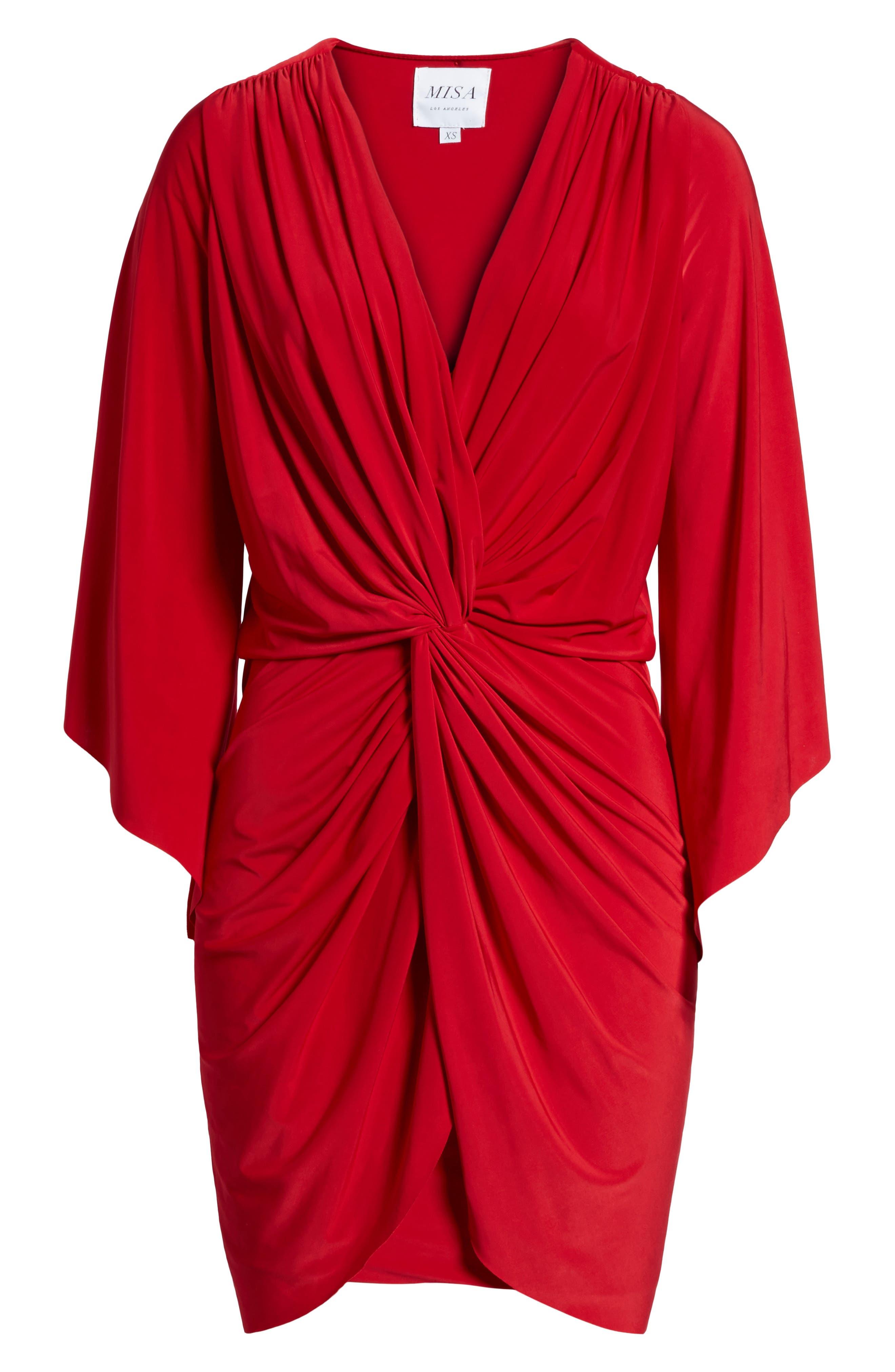 Alternate Image 6  - MISA Los Angeles Teget Knot Front Dress