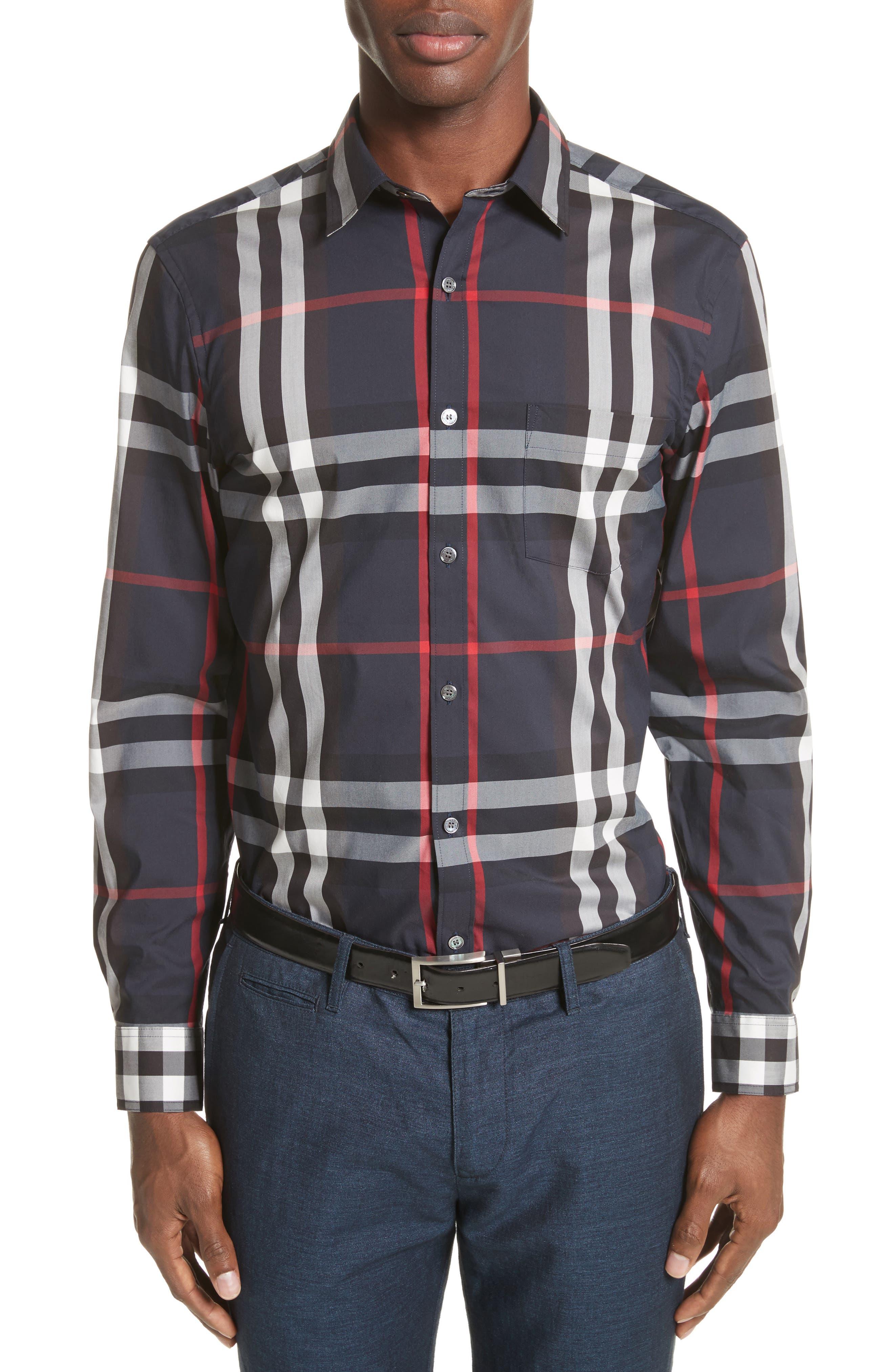 Alternate Image 1 Selected - Burberry Nelson Check Sport Shirt