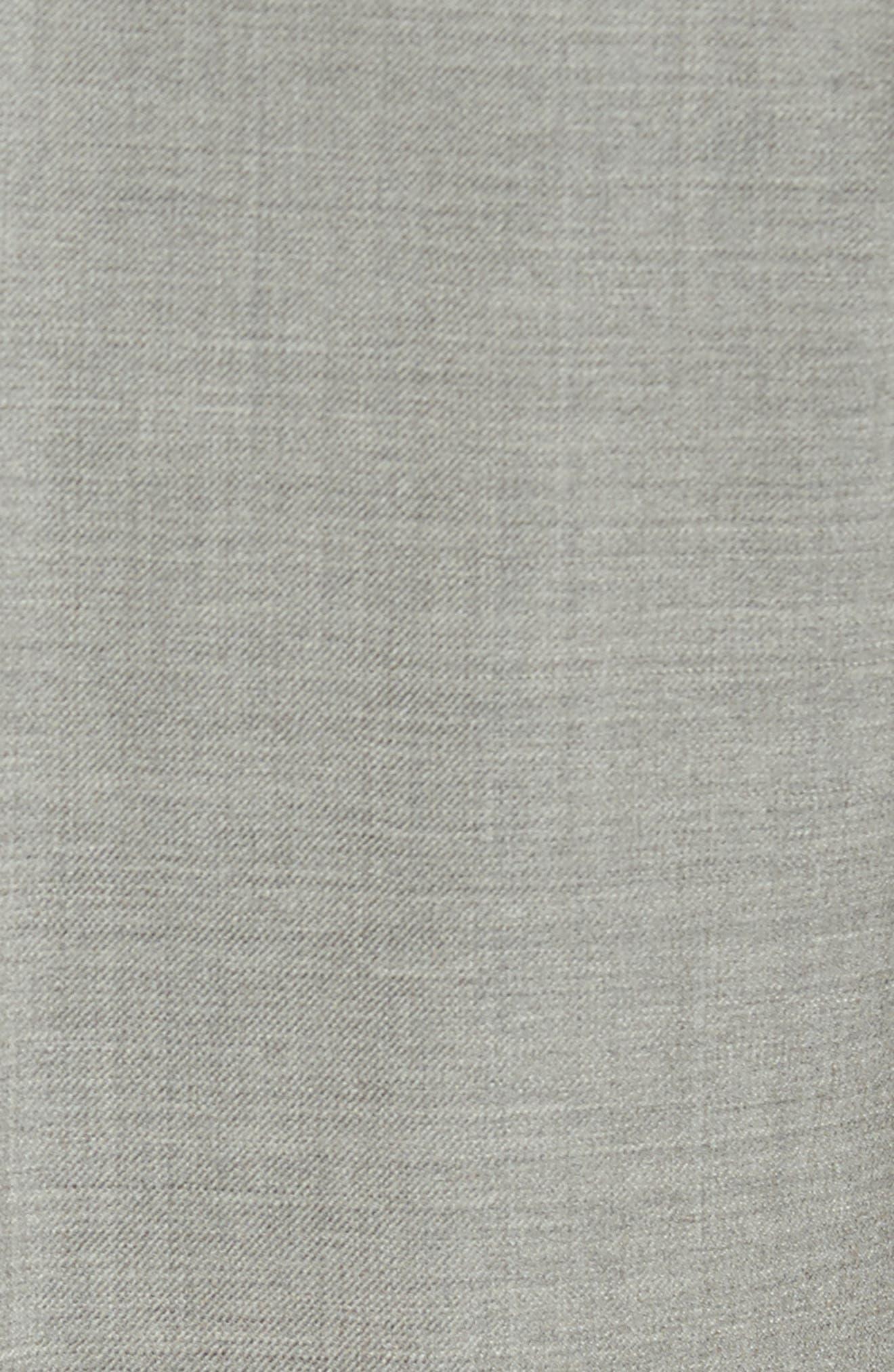 Peter Millar Multi Season Super 150s Wool Flat Front Trousers,                             Alternate thumbnail 5, color,                             Sabbia