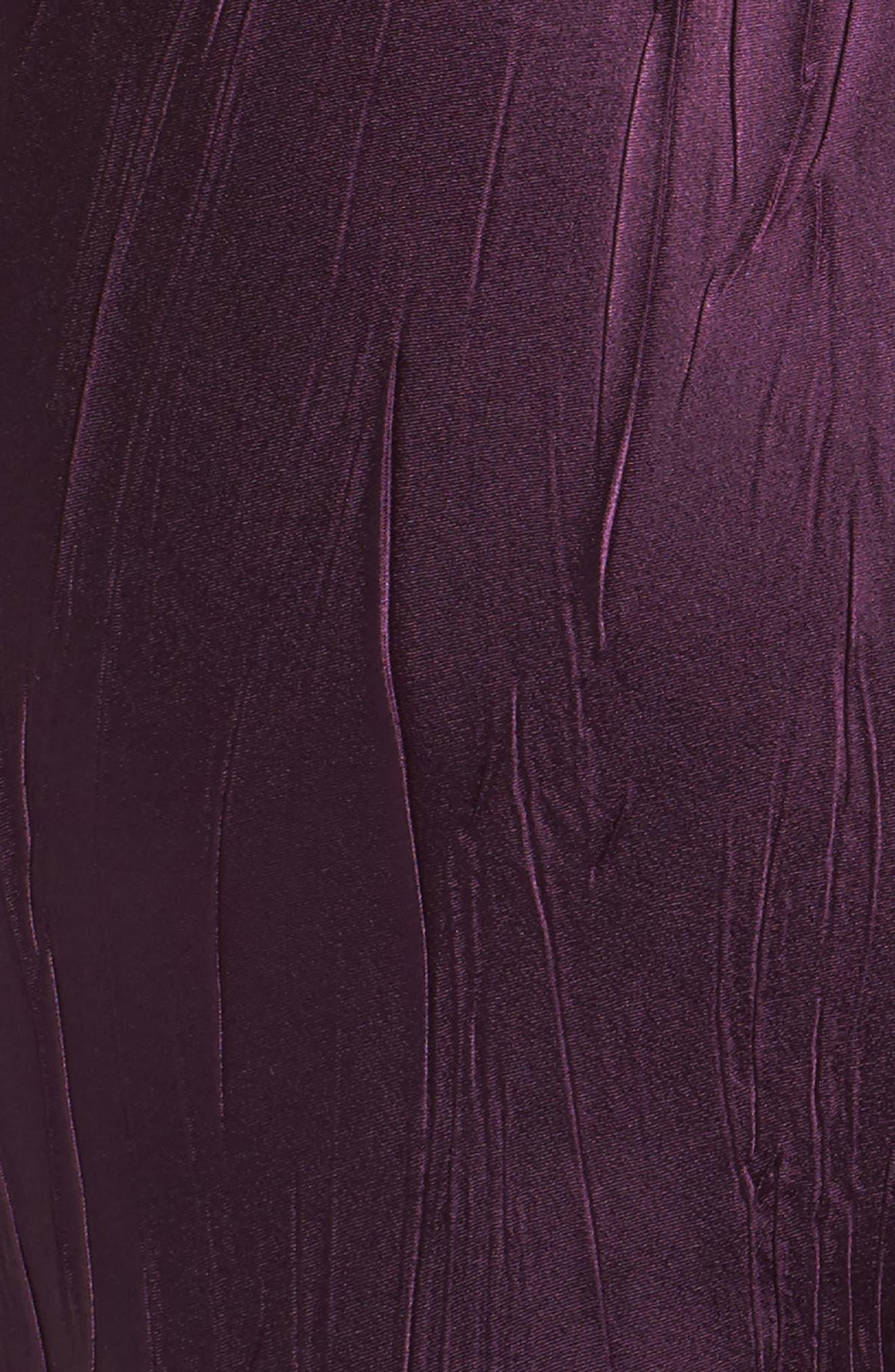 Mixed Media A-Line Dress & Jacket,                             Alternate thumbnail 4, color,                             Aubergine Night Ombre