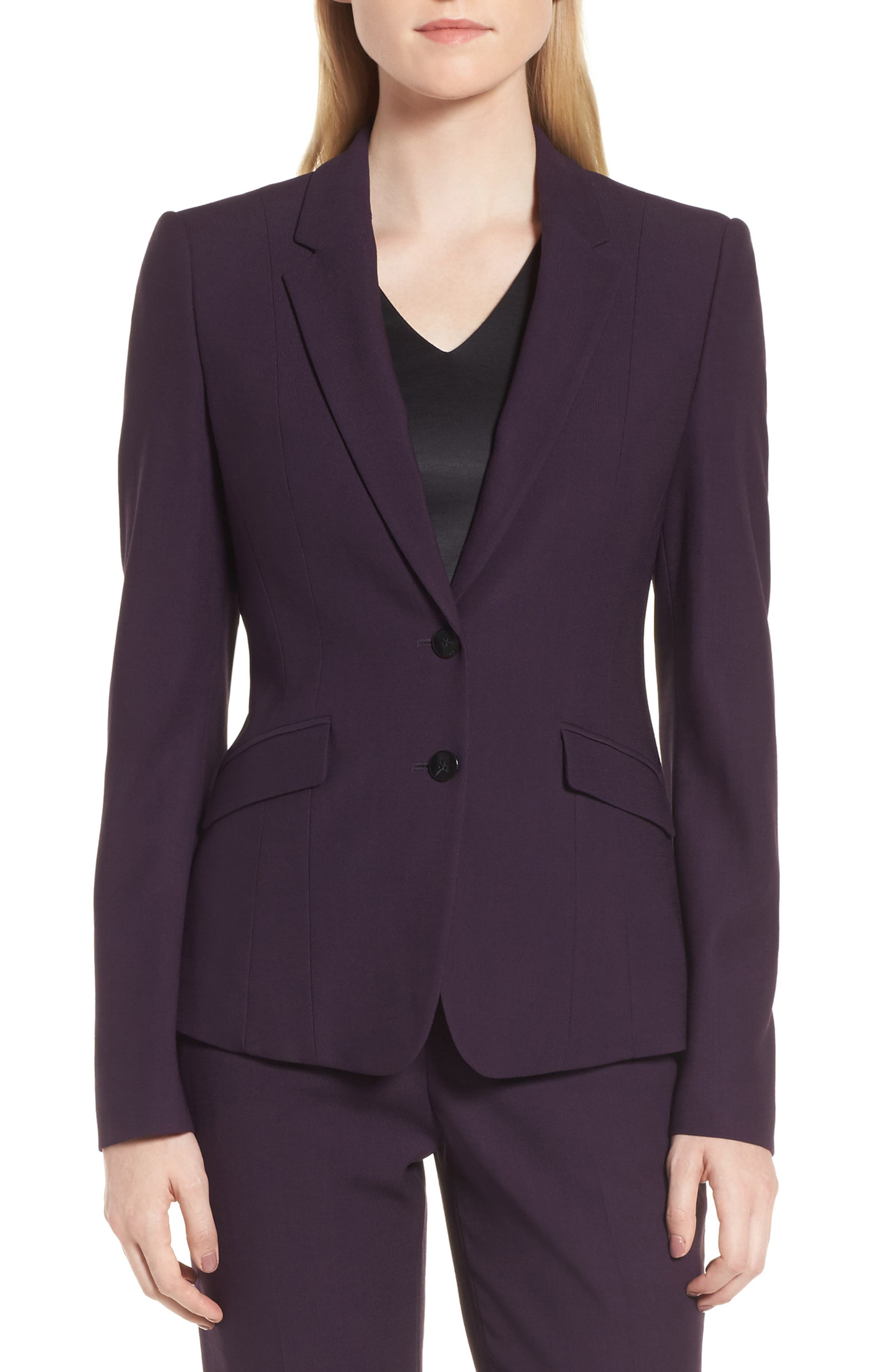 Main Image - BOSS Jonalua Stretch Wool Suit Jacket (Regular & Petite)