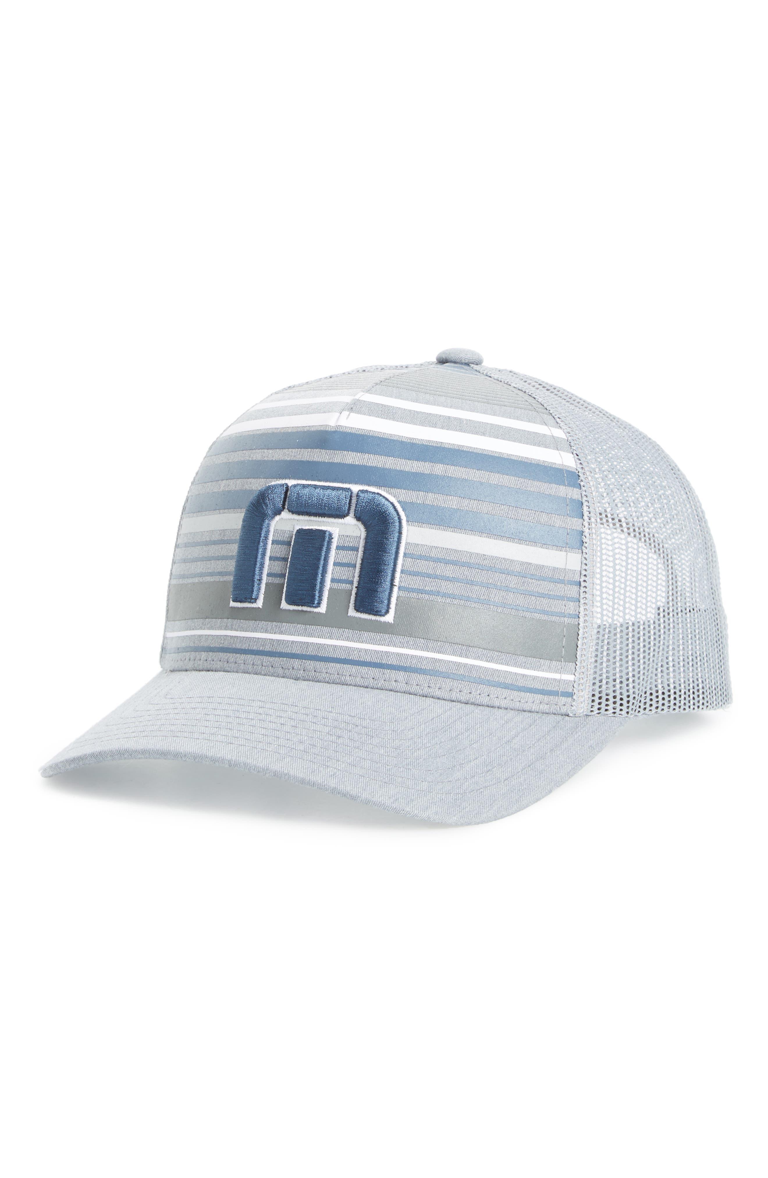 Kubiak Snapback Trucker Hat,                         Main,                         color, Heather Quiet Shade