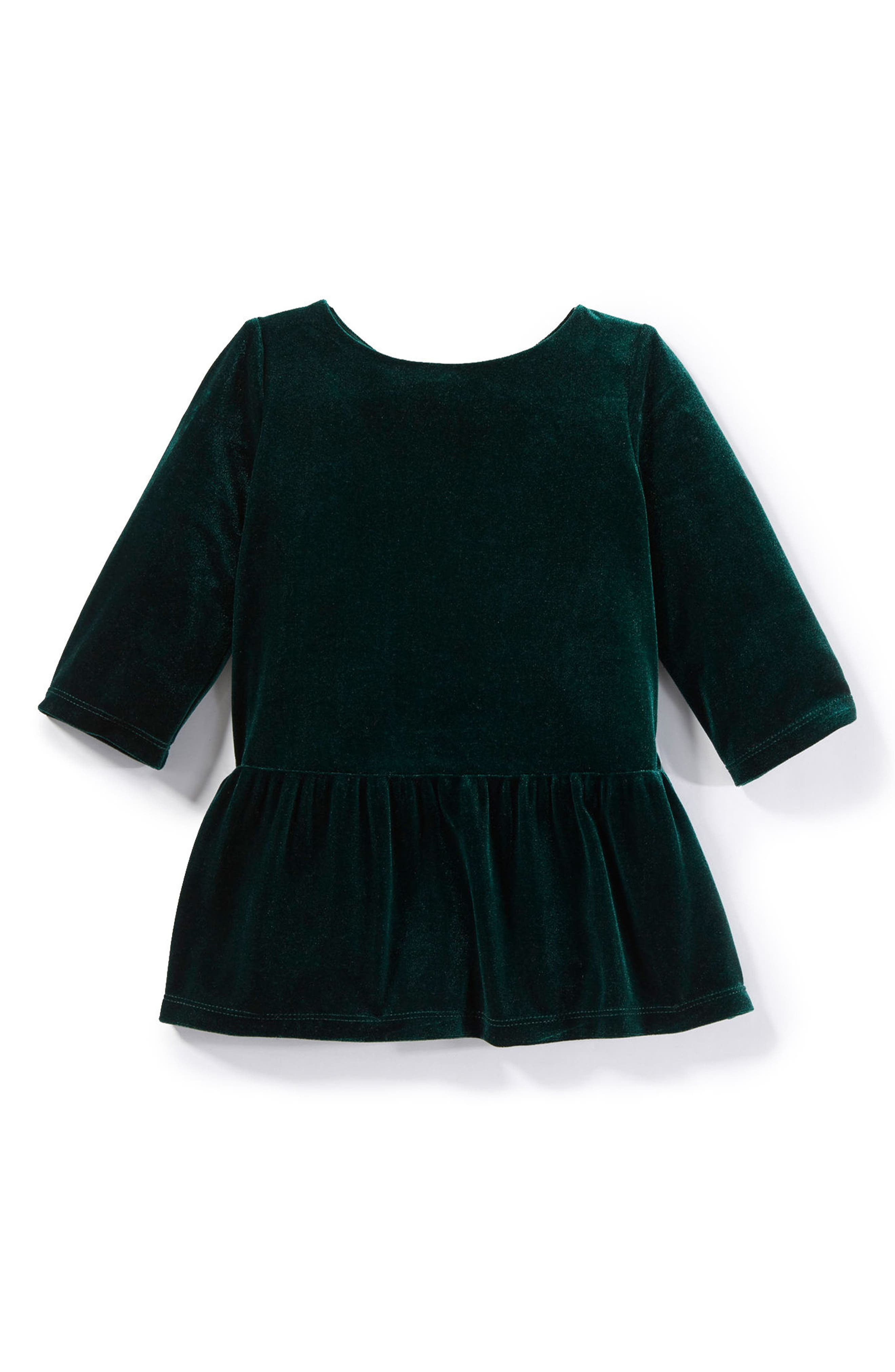 Main Image - Peek Angelina Velvet Dress (Baby Girls)