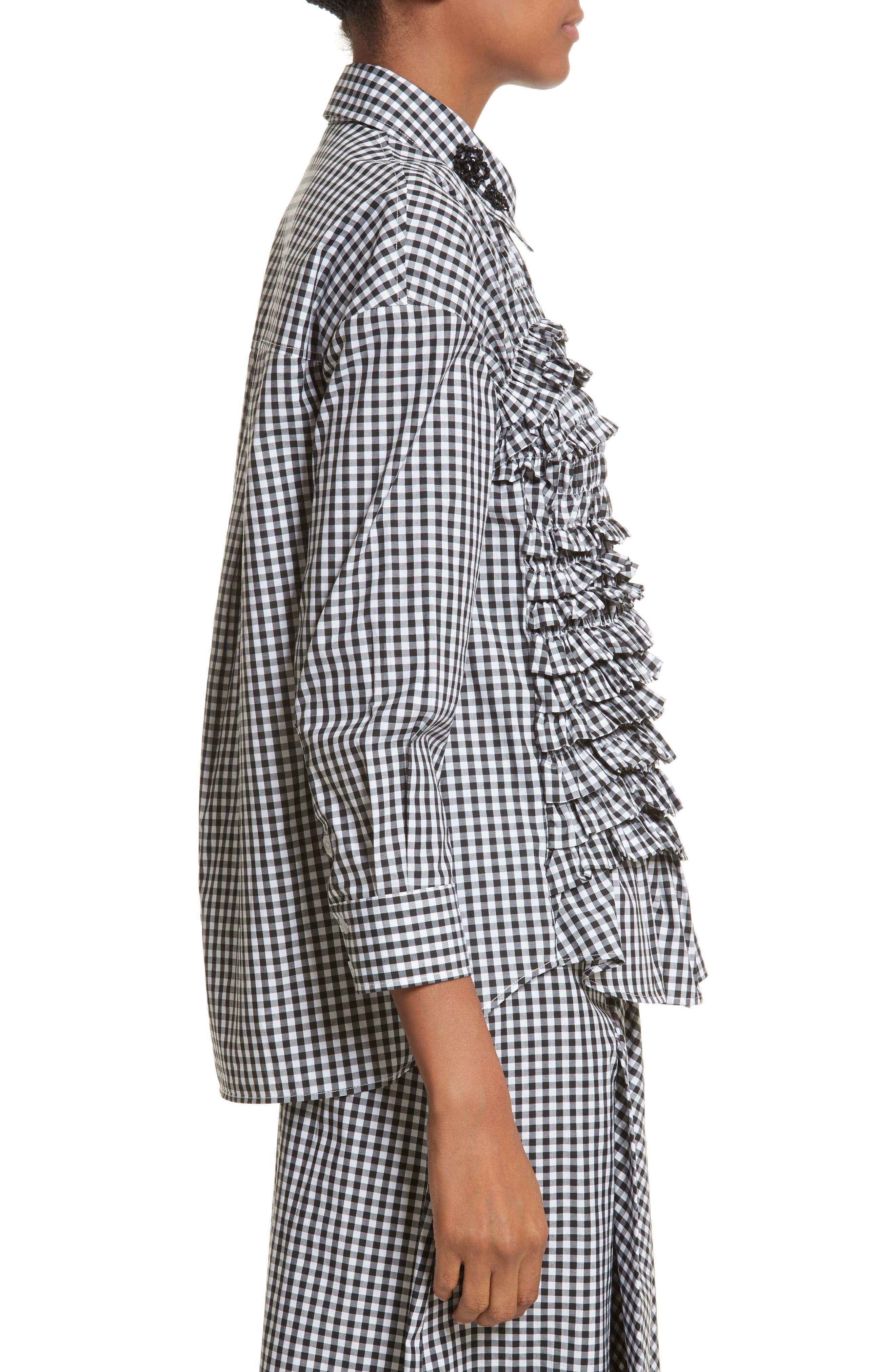 Alternate Image 3  - Simone Rocha Beaded Smock Front Shirt