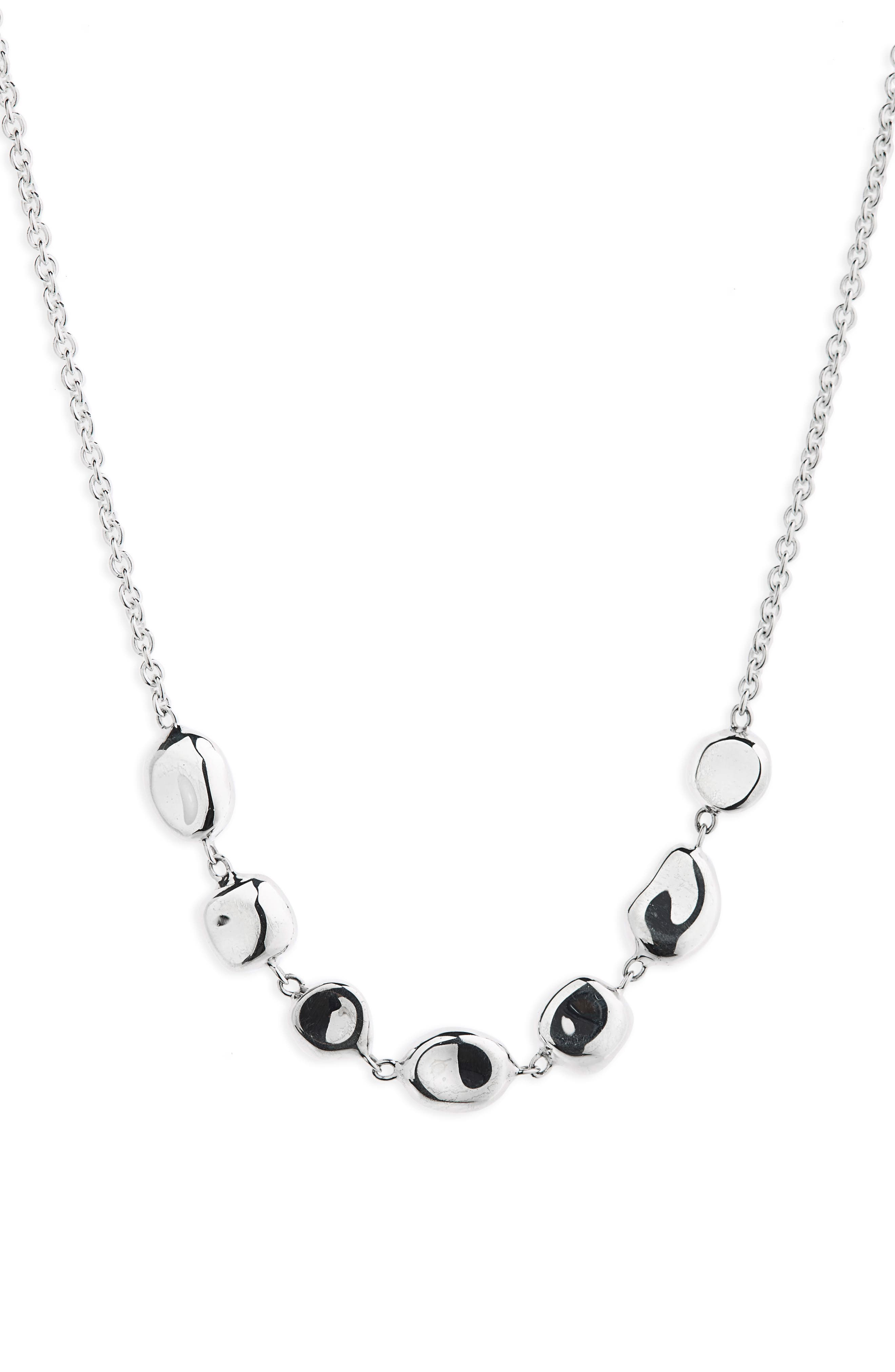 Onda Collar Necklace,                             Alternate thumbnail 2, color,                             Silver