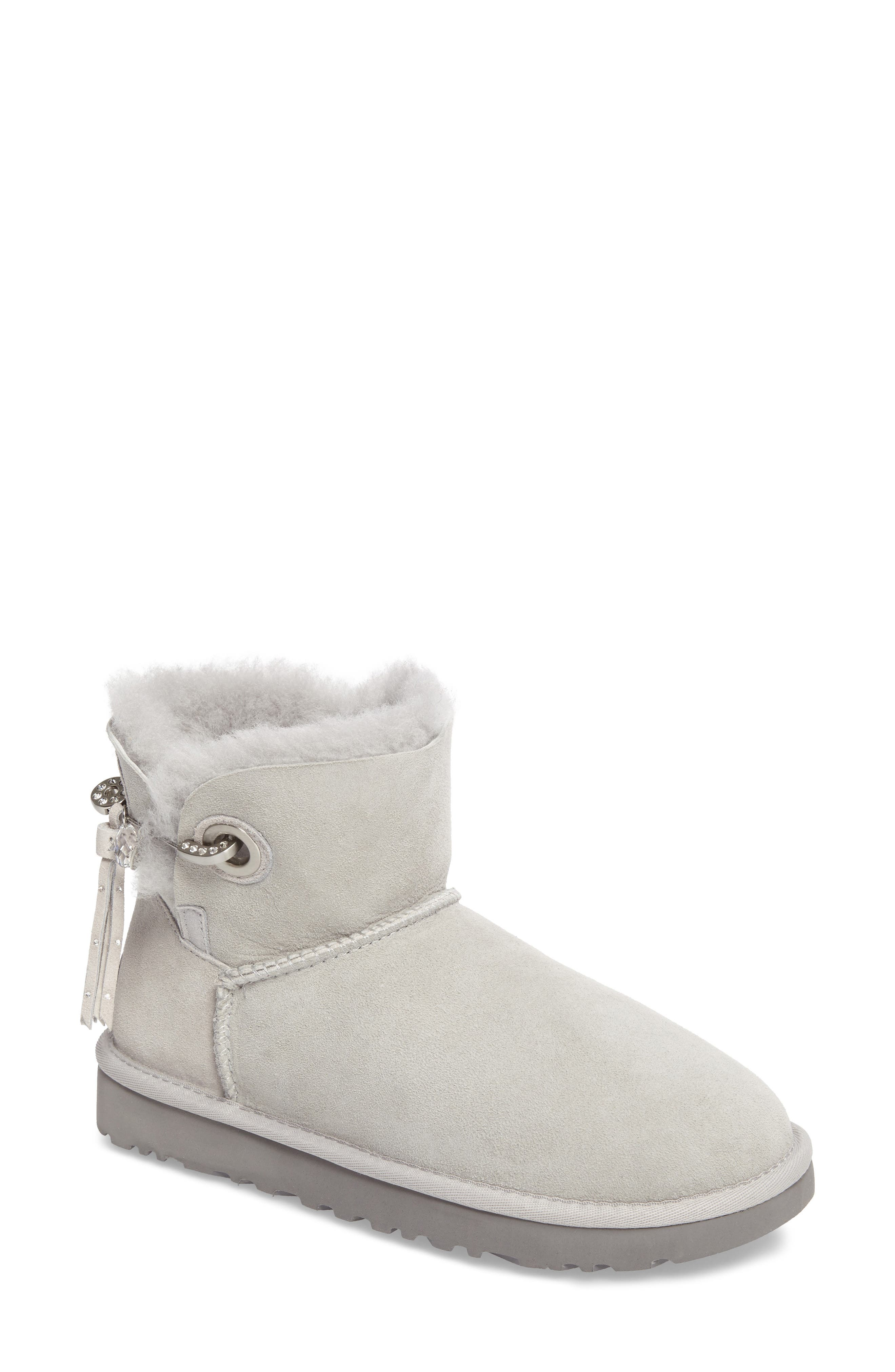 Classic Mini Josey Boot,                         Main,                         color, Grey Violet Suede