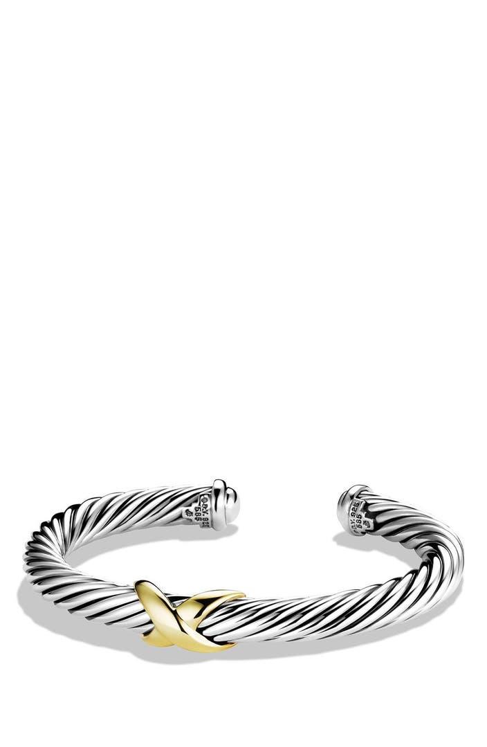 david yurman x bracelet with 14k gold nordstrom
