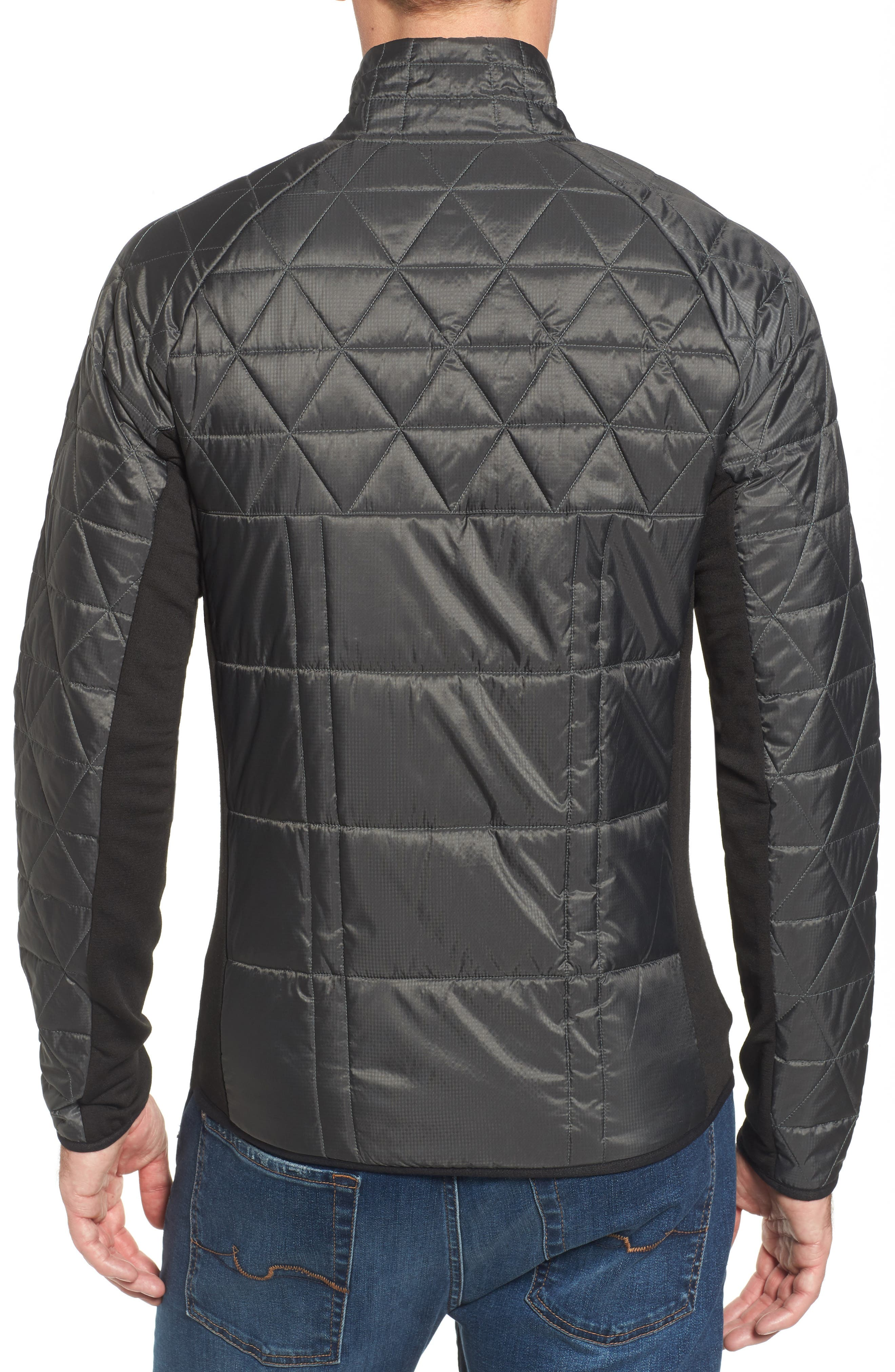 Double Corbet 120 Water Resistant Quilted Jacket,                             Alternate thumbnail 2, color,                             Graphite