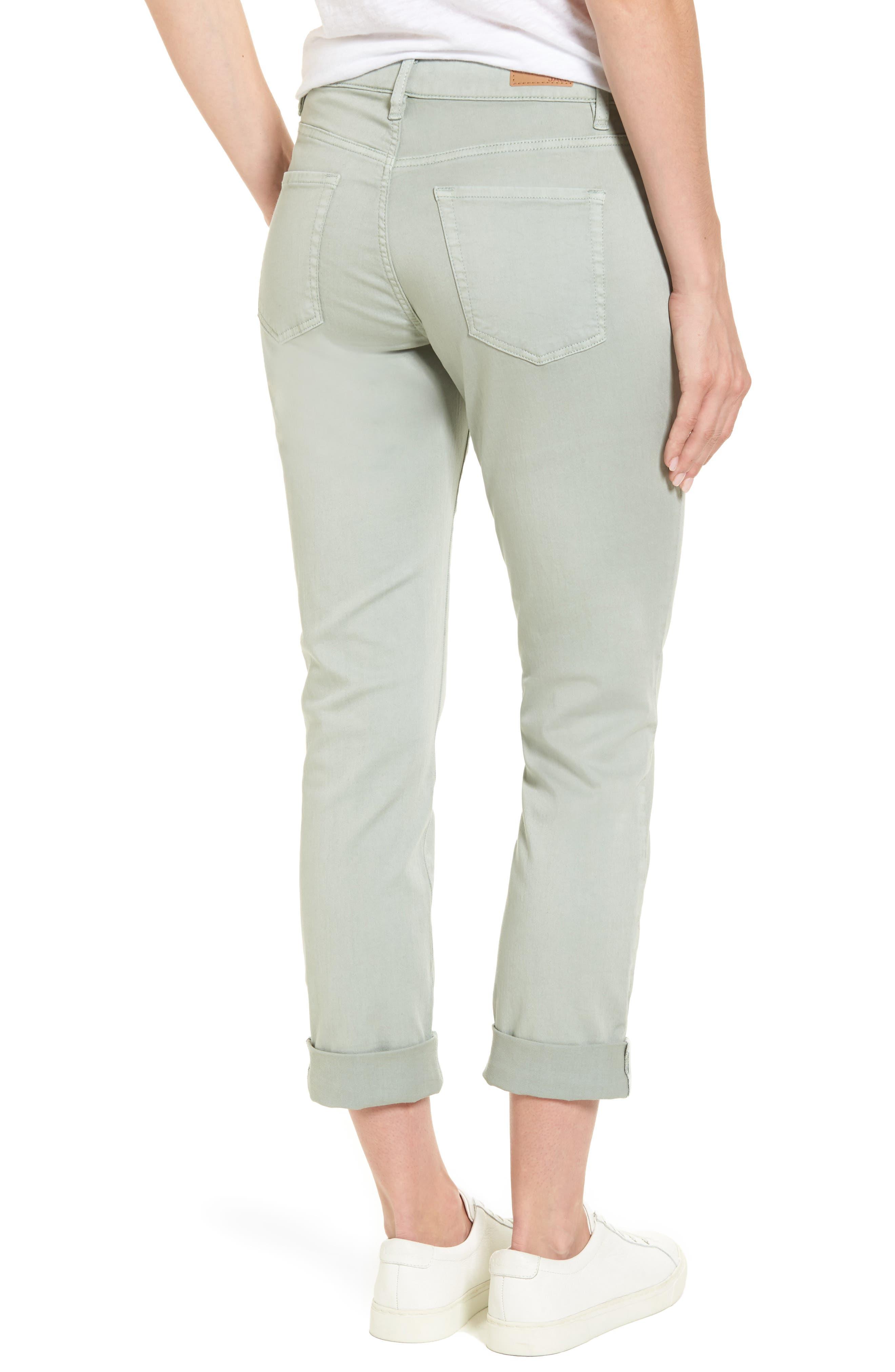 Carter Knit Denim Girlfriend Jeans,                             Alternate thumbnail 2, color,                             Beach Glass