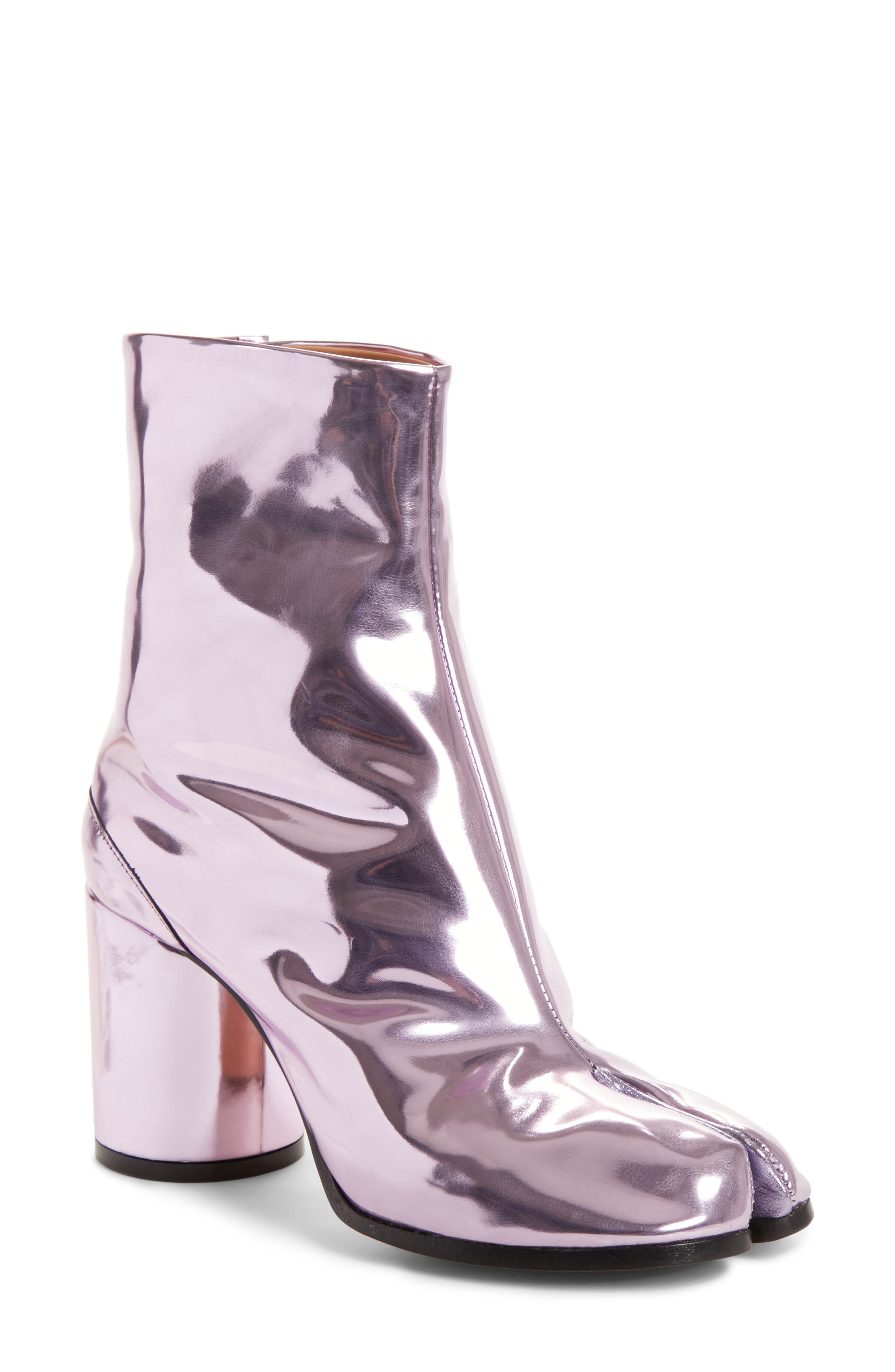 Tabi Metallic Ankle Boot,                             Main thumbnail 1, color,                             Pink
