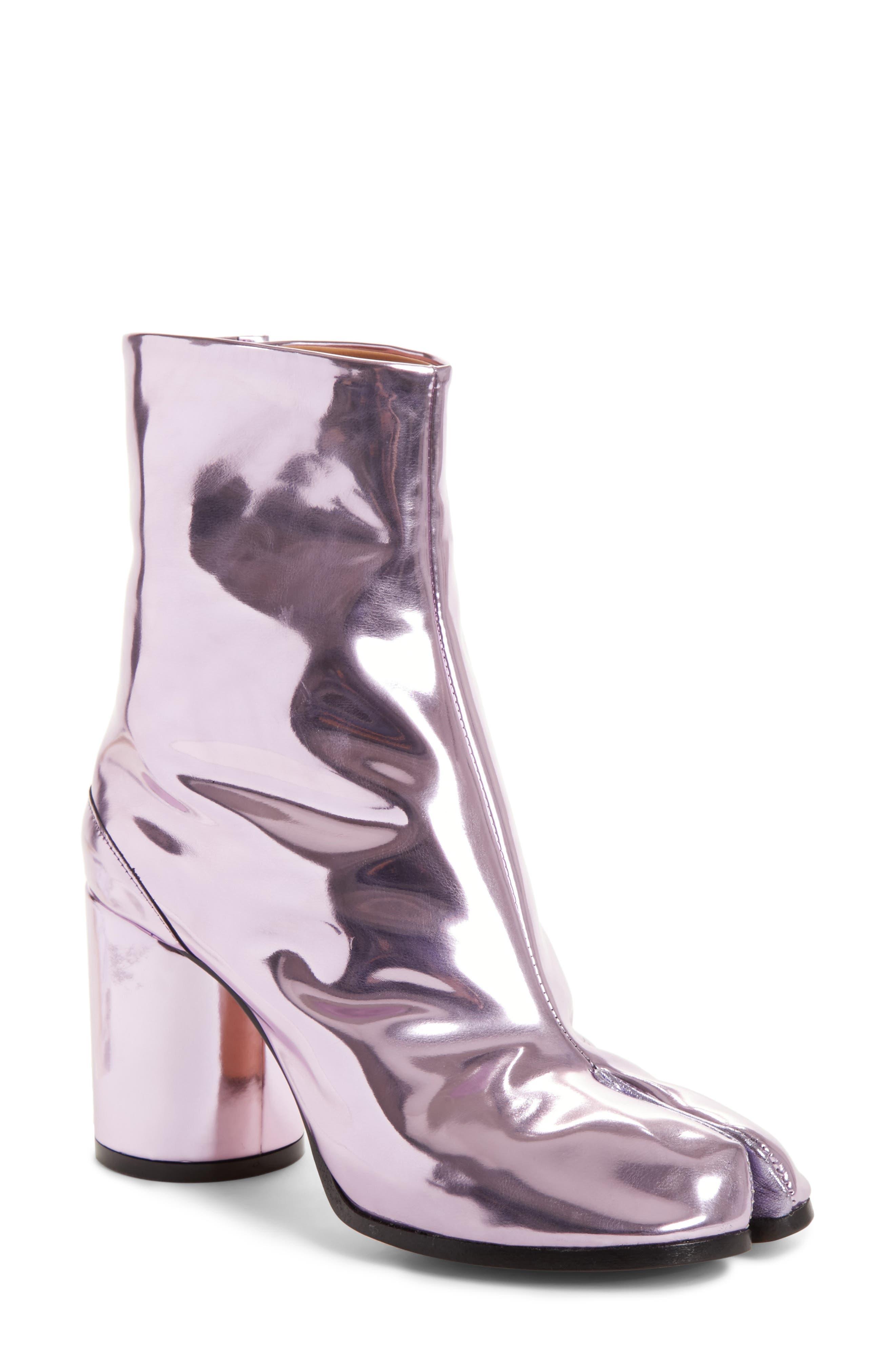 Tabi Metallic Ankle Boot,                         Main,                         color, Pink