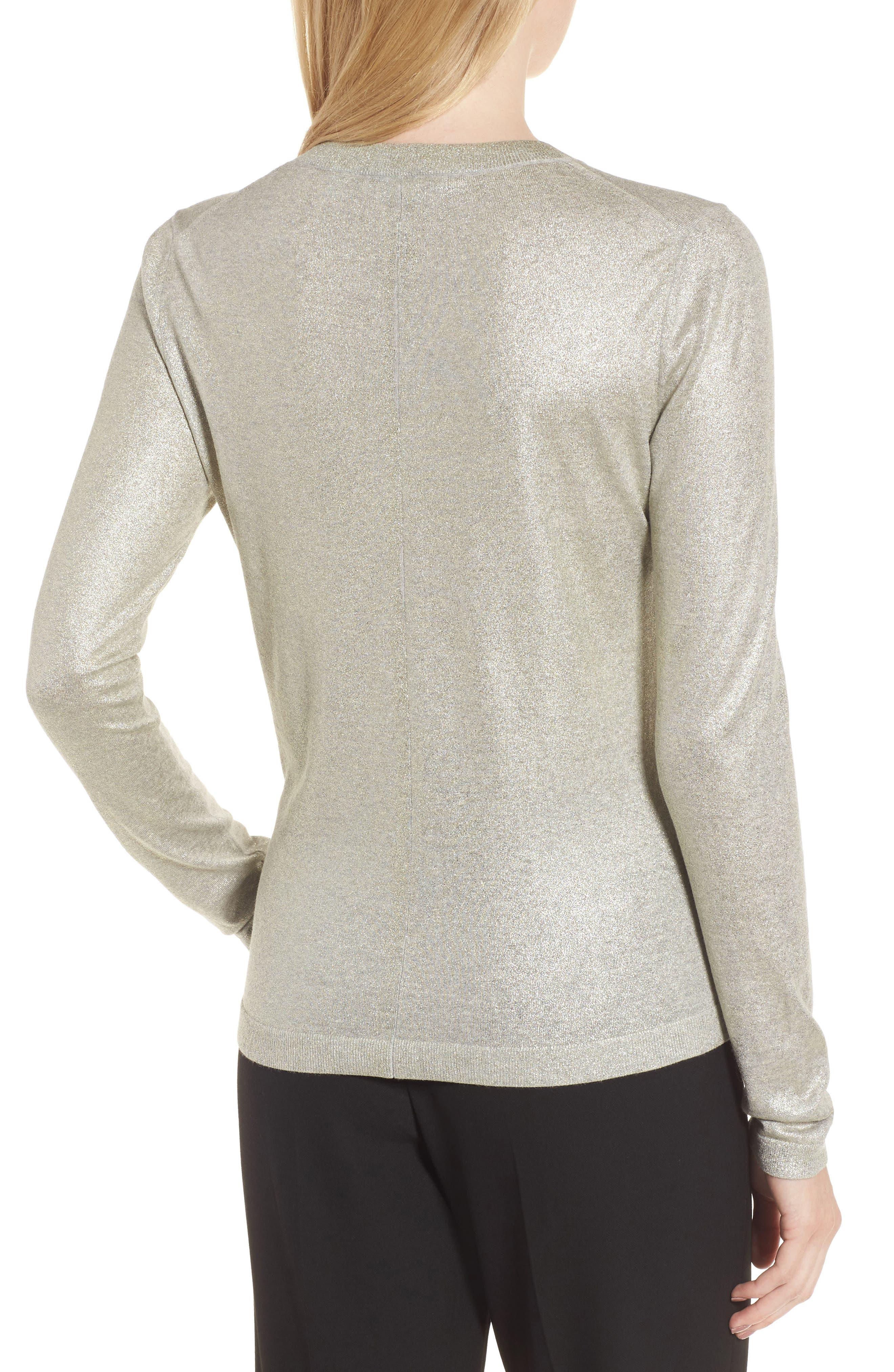 Fadine Wool Crewneck Sweater,                             Alternate thumbnail 2, color,                             Cozy Grey Melange