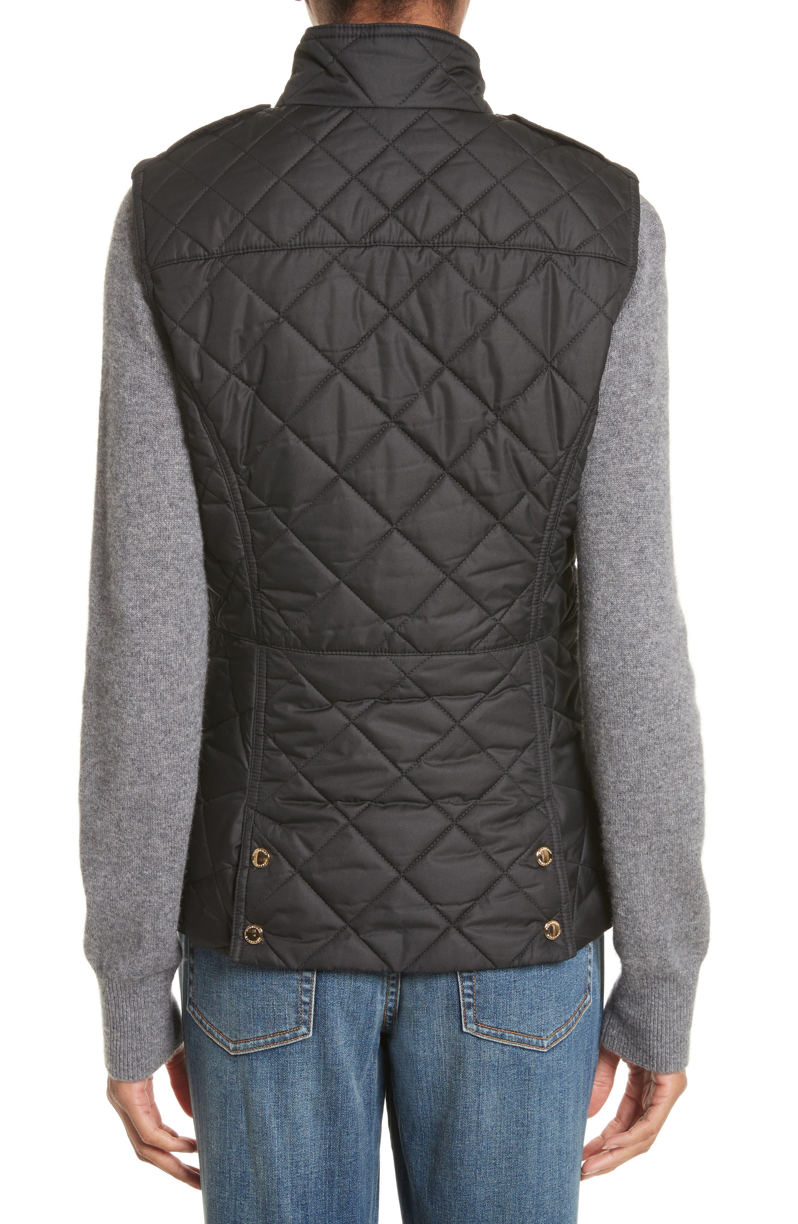 Westleton Quilted Vest,                             Alternate thumbnail 2, color,                             Black