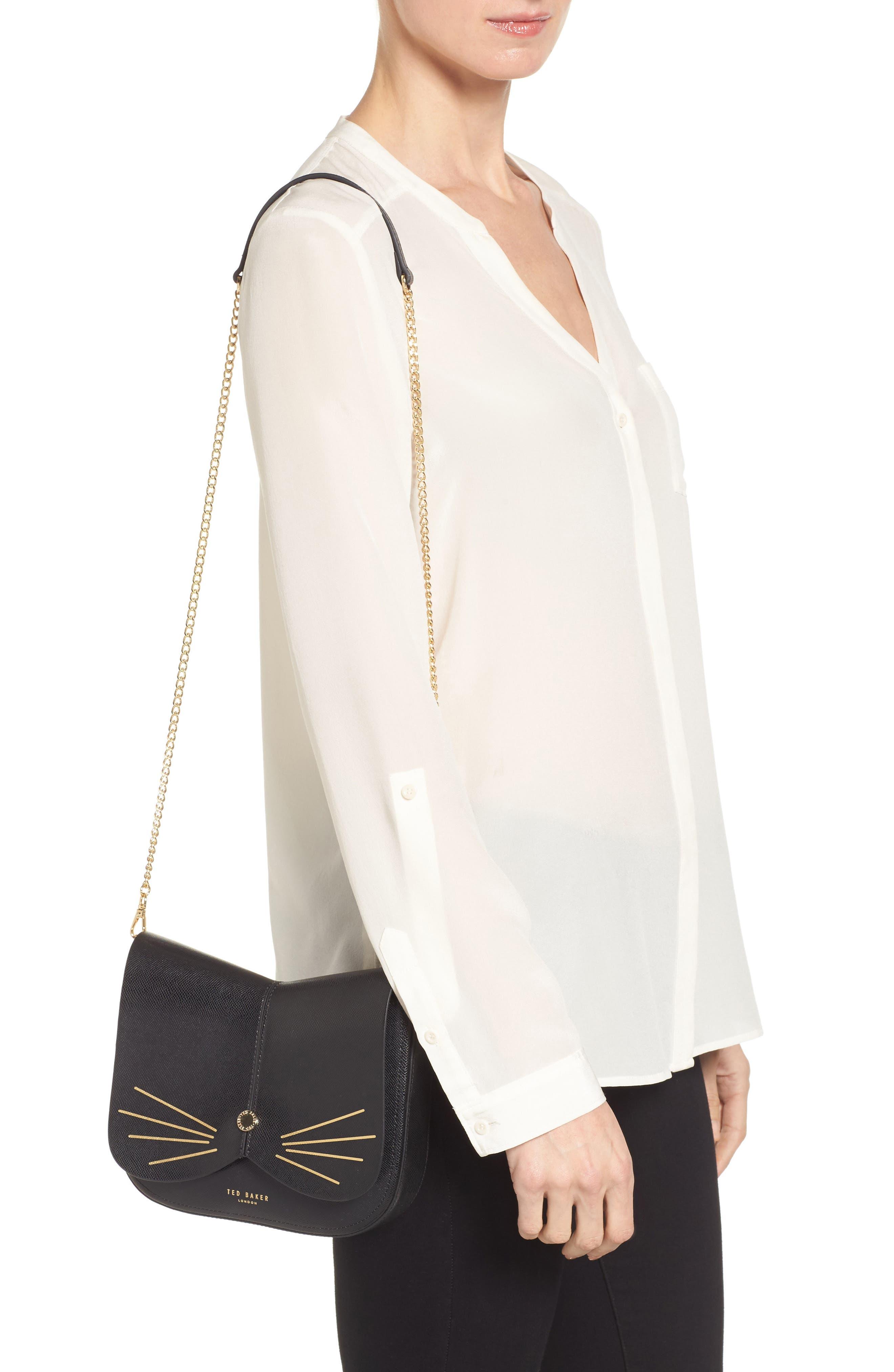 Alternate Image 2  - Ted Baker London Kittii Cat Leather Crossbody Bag