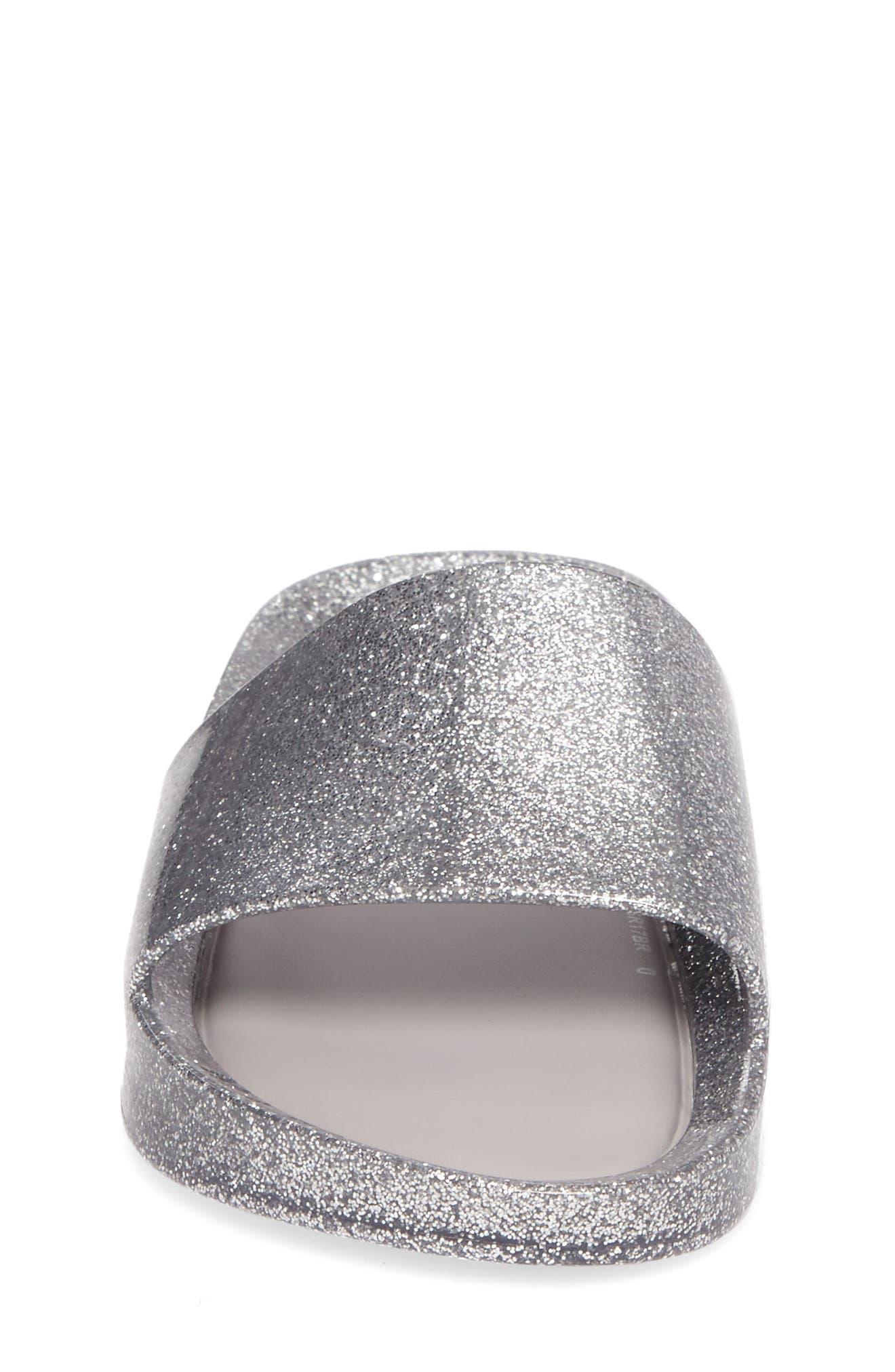 Beach Slide,                             Alternate thumbnail 4, color,                             Silver Glass Glitter
