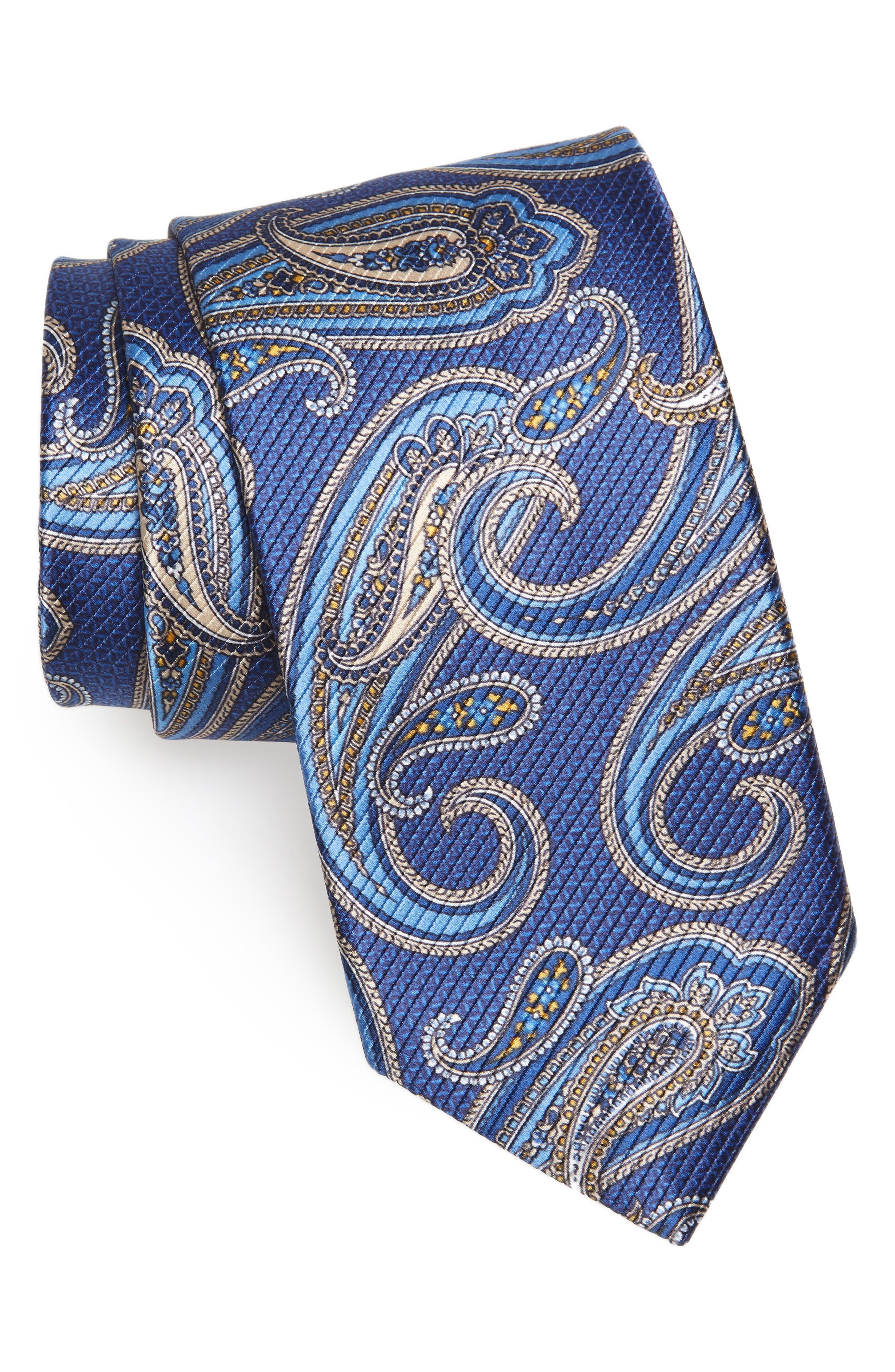 Alternate Image 1 Selected - David Donahue Paisley Silk Tie